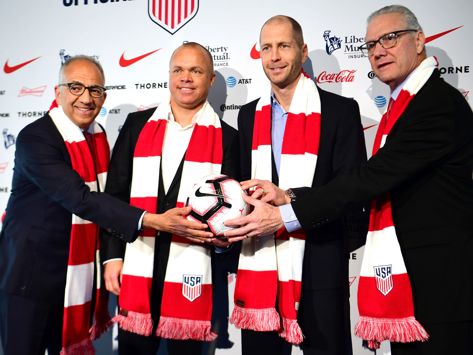 Gregg Berhalter is introduced as the new USMNT manager