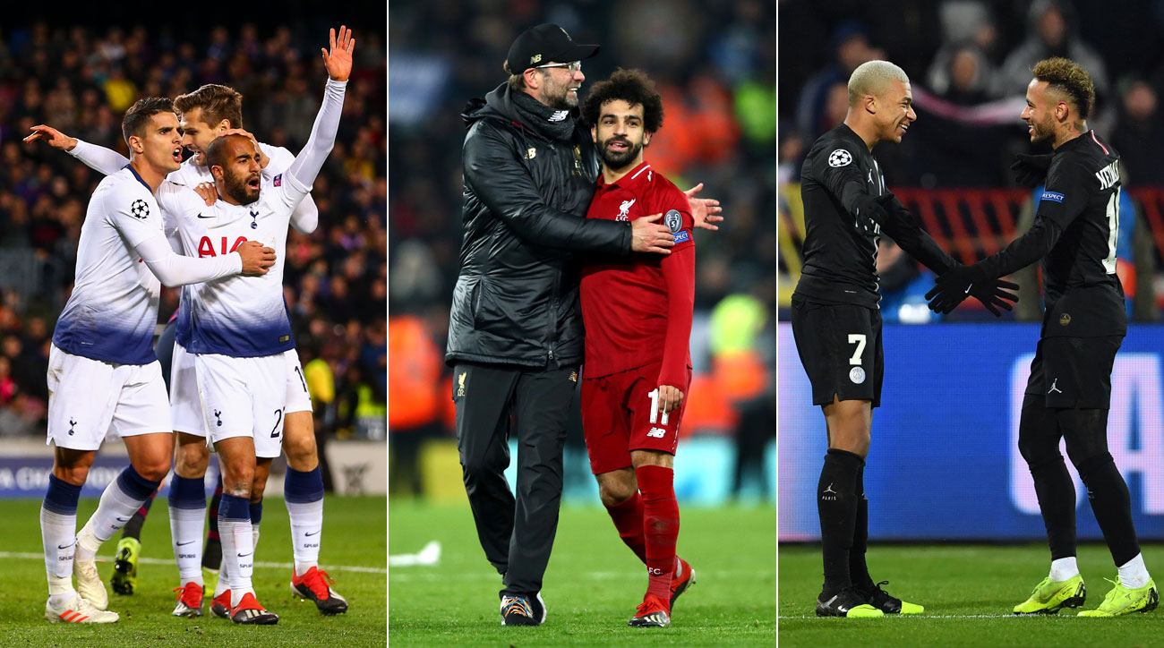 Tottenham, Liverpool and PSG are all through to the Champions League knockout stage