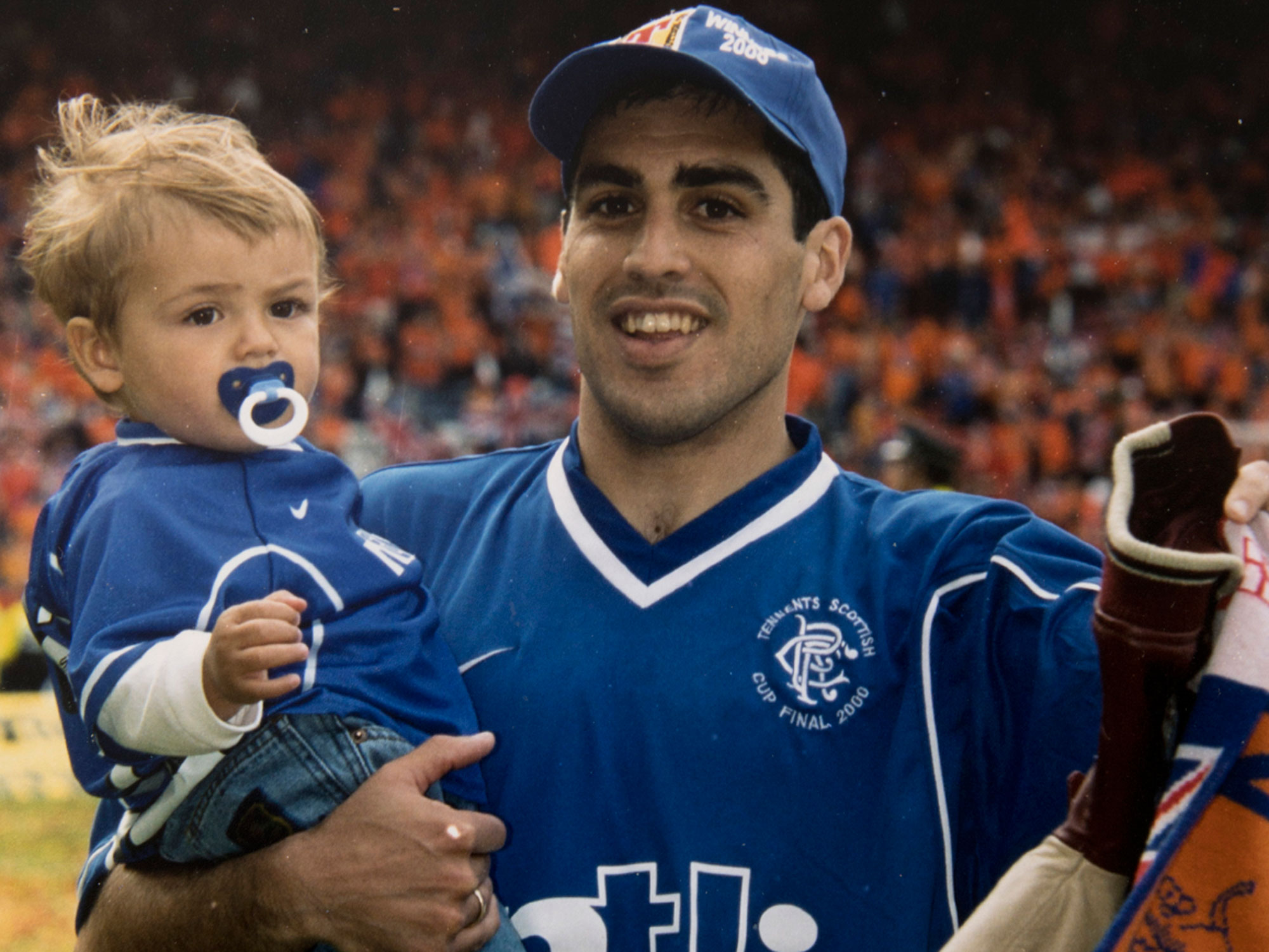 Claudio Reyna and Jack Reyna at Glasgow Rangers