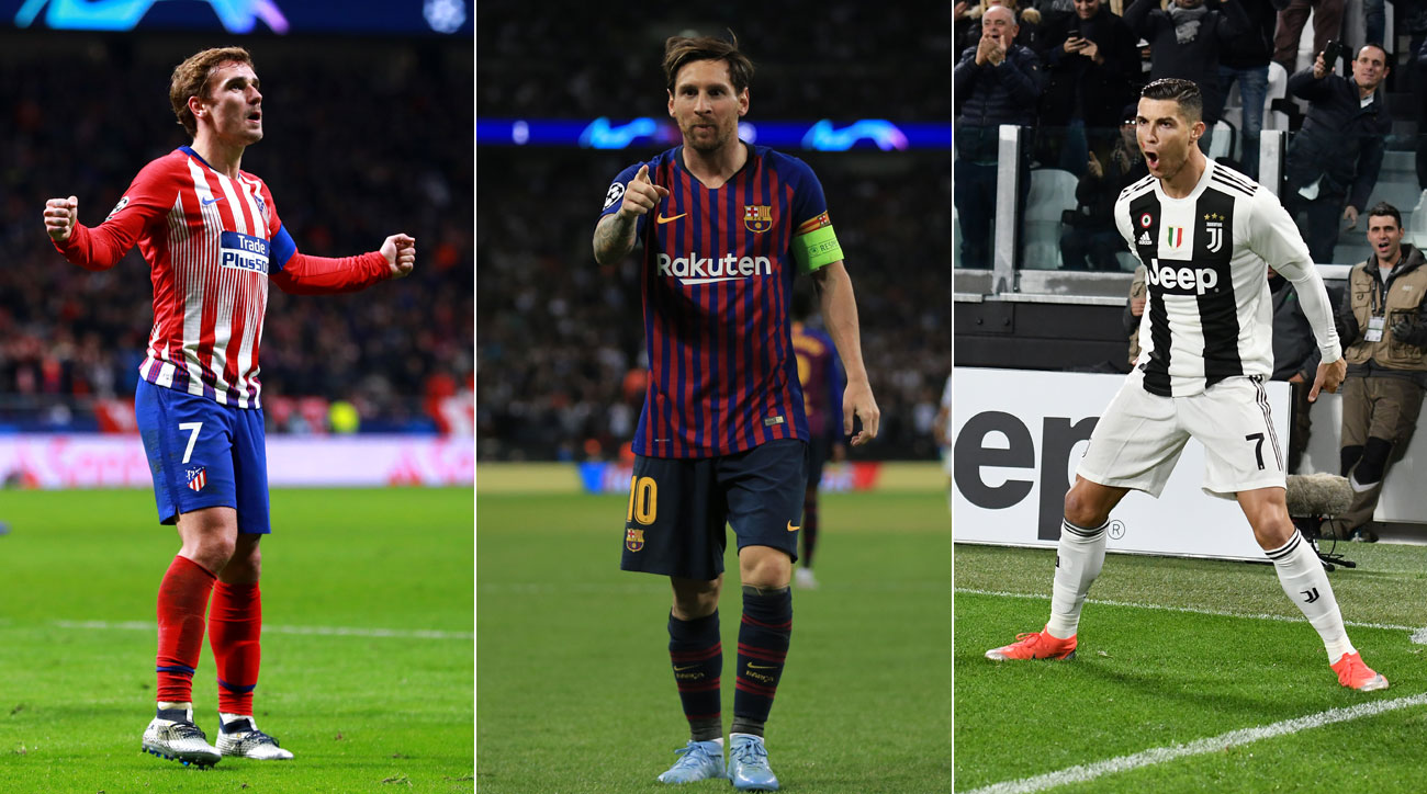 Atletico Madrid, Barcelona and Juventus will contend for the Champions League title