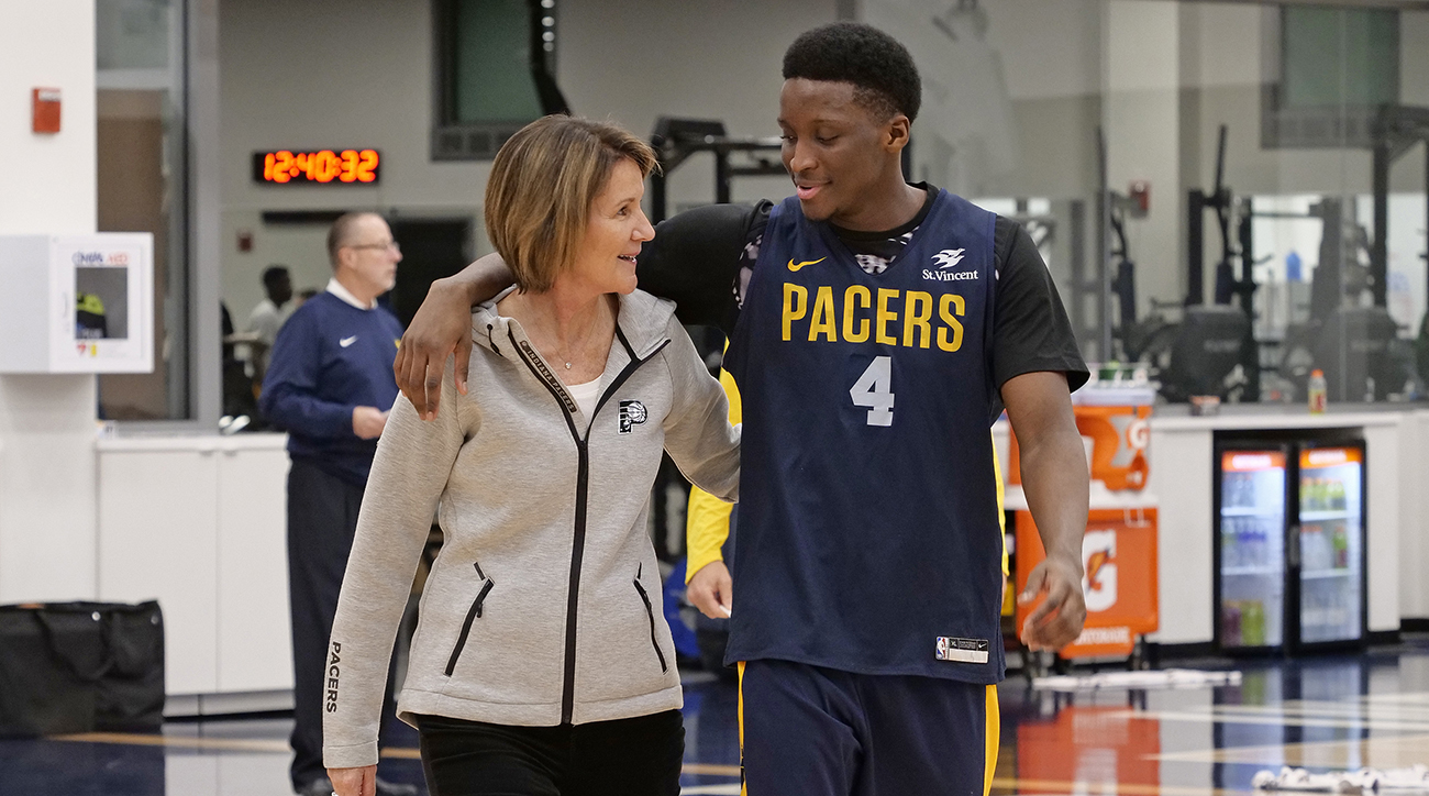 Indiana Pacers Introduce Kevin Pritchard and Kelly Krauskopf