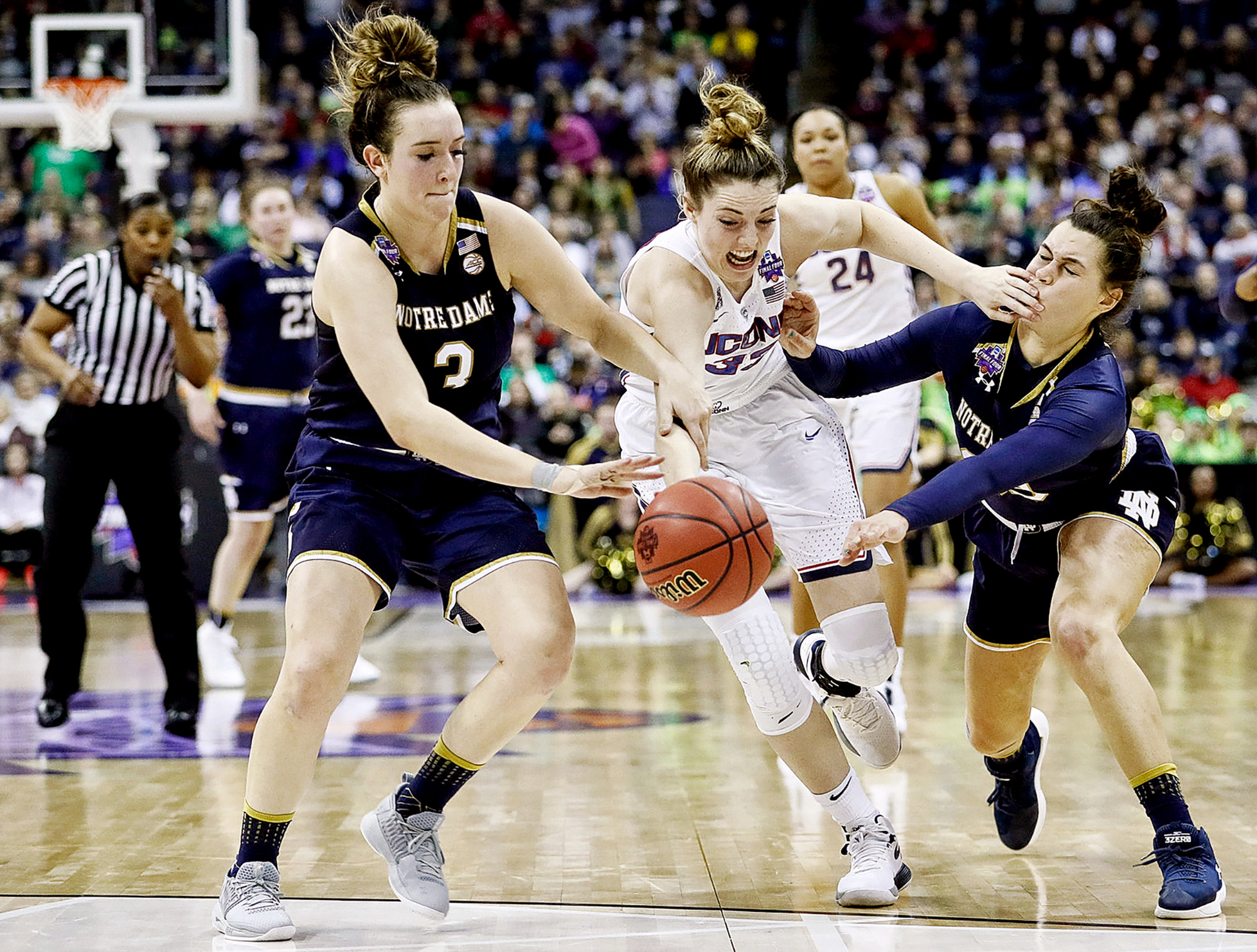 UConn's Katie Lou Samuelson vs. Notre Dame's Marina Mabrey in the NCAA Final Four.