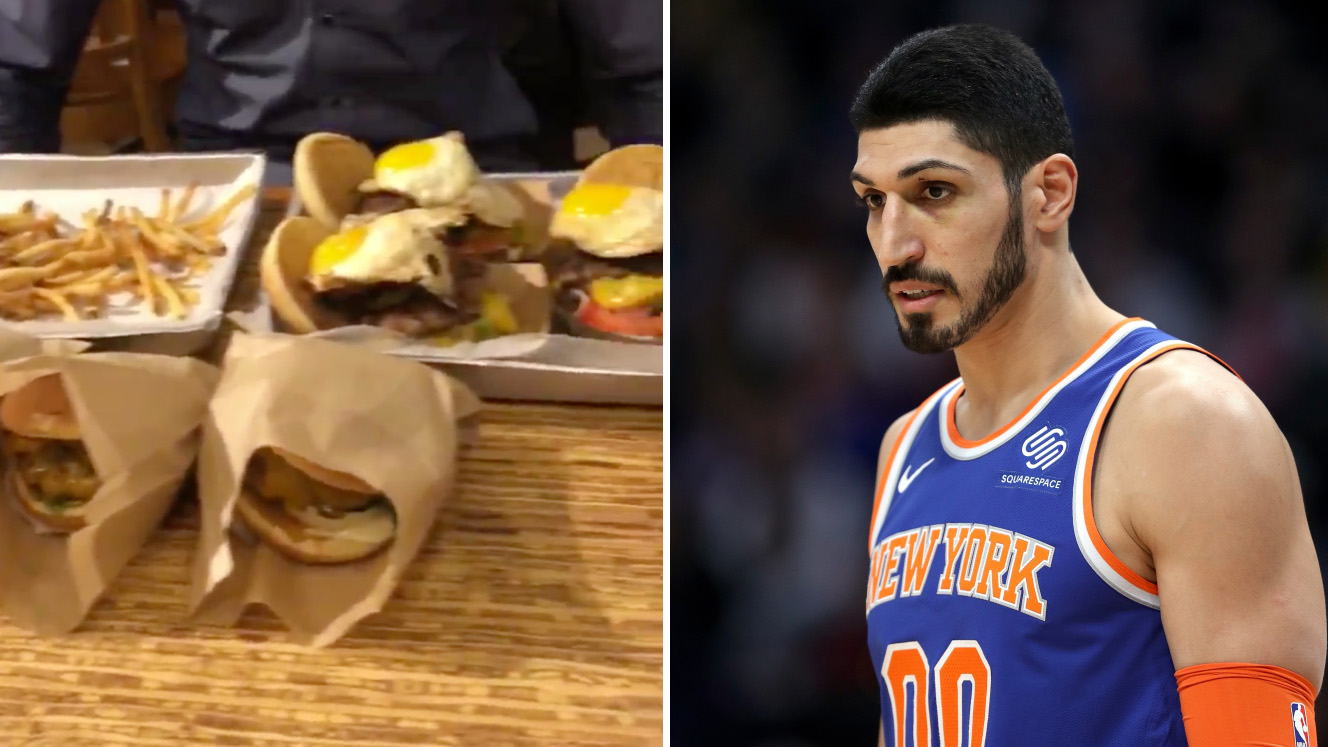 Knicks' Enes Kanter eats seven burgers, leaves practice