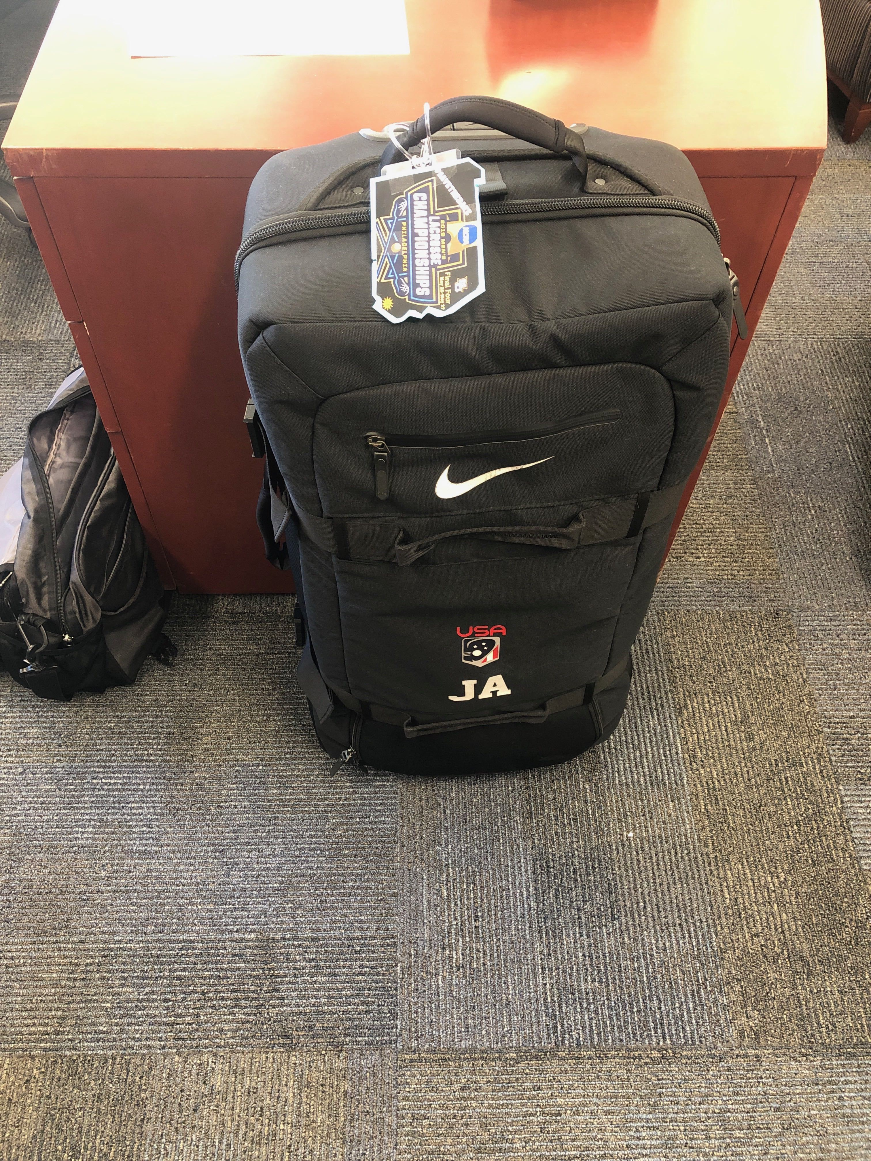 marquette lacross coach joe amplo packed bag motivation