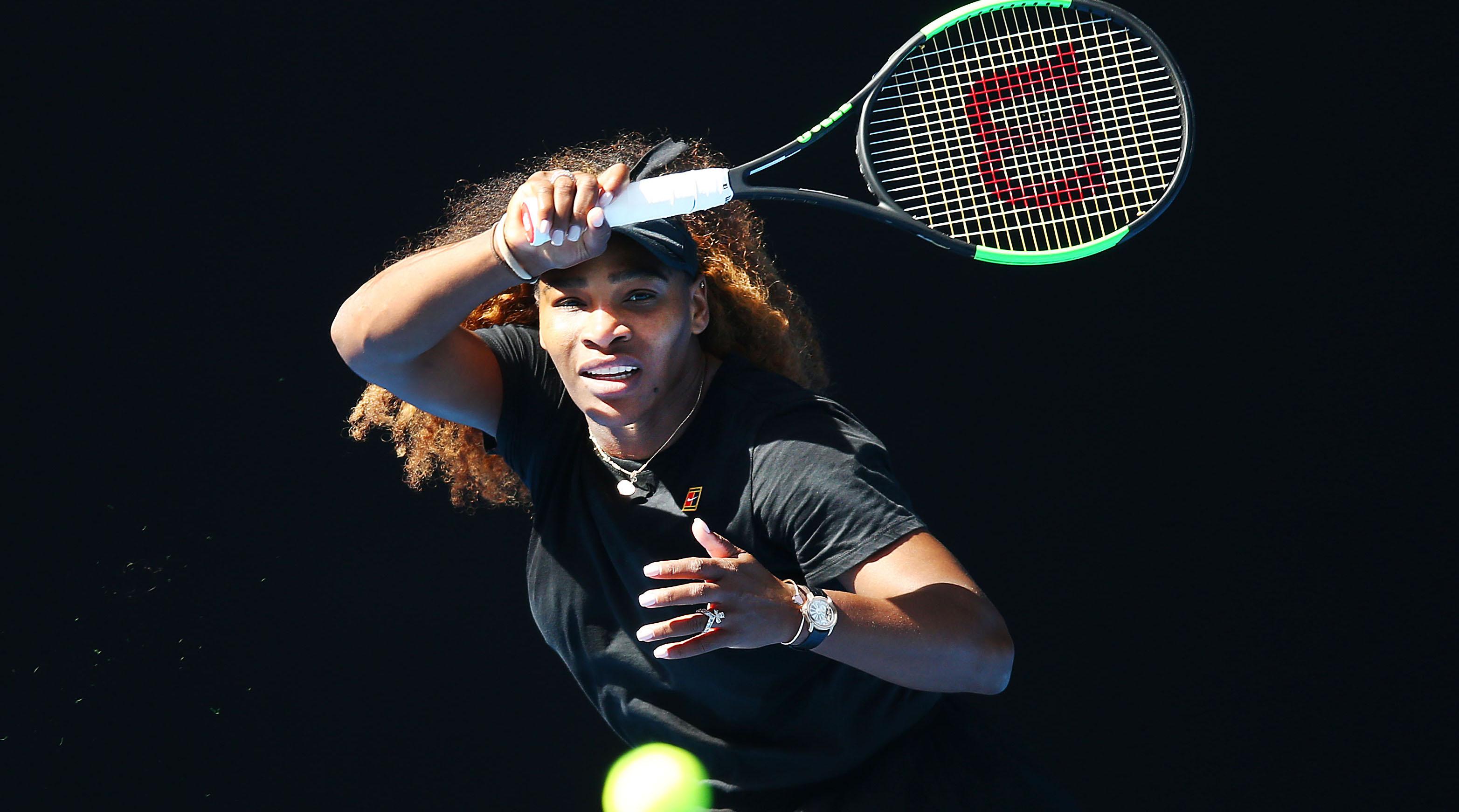 Serena Williams Australian Open first round