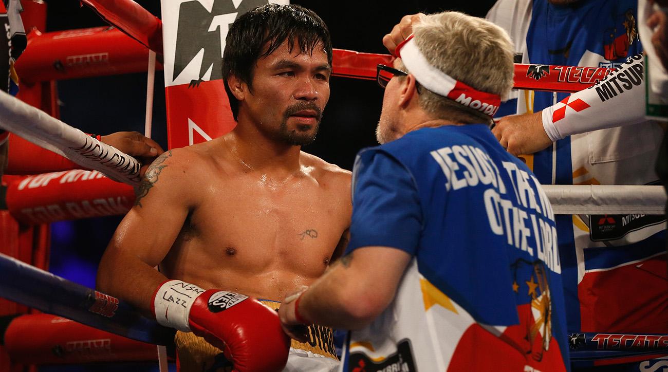 Manny Pacquaio and Freddie Roach