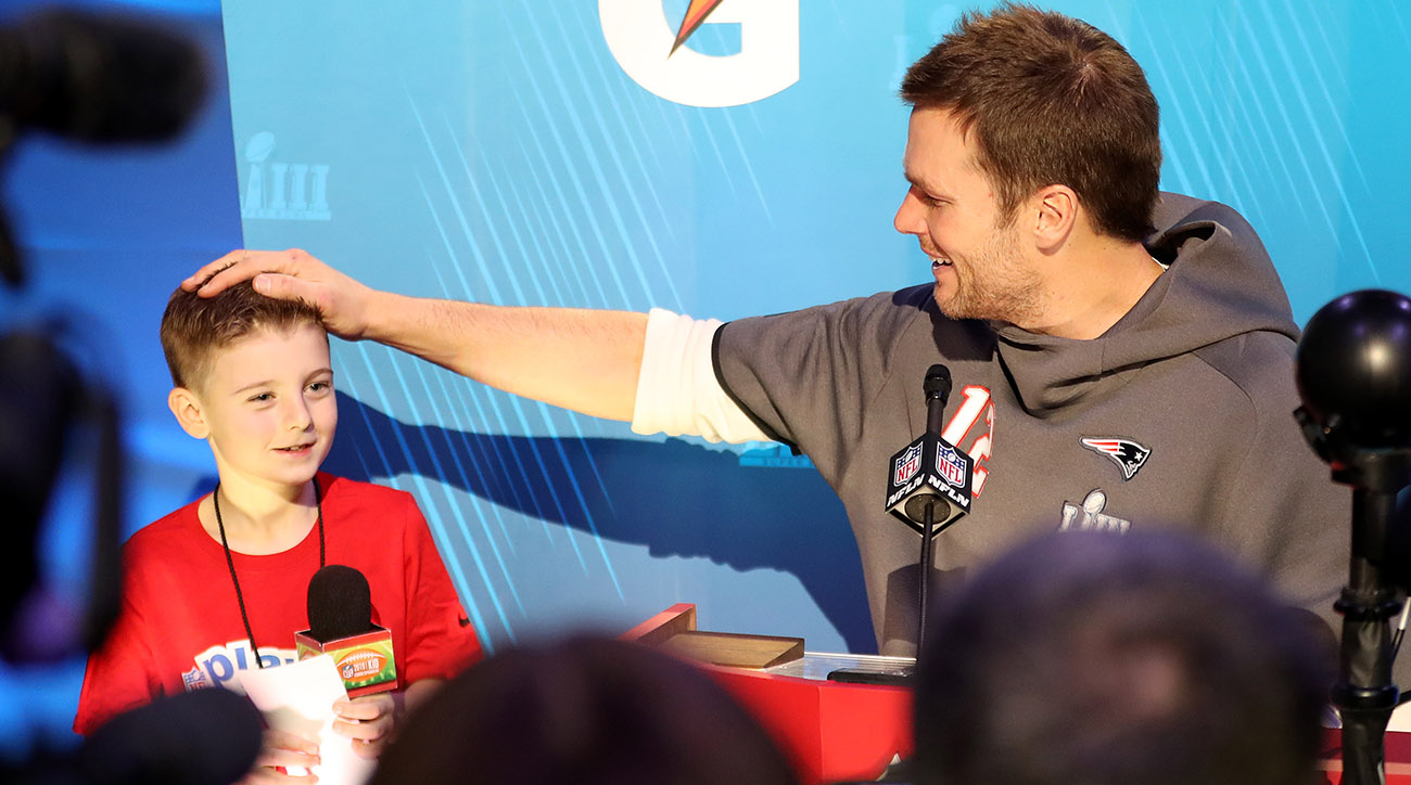 Tom Brady at Super Bowl LIII Opening Night