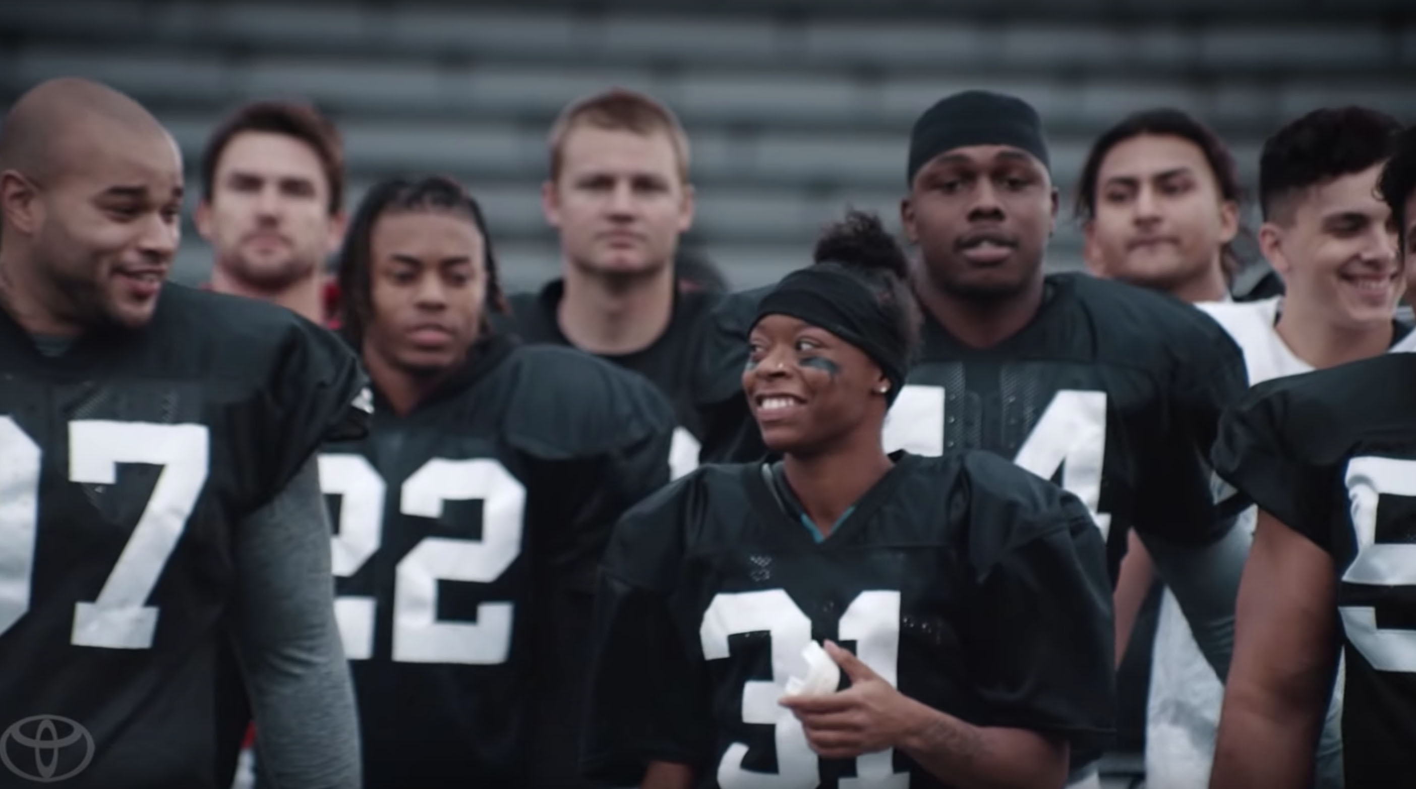 Super Bowl ad on female college football player