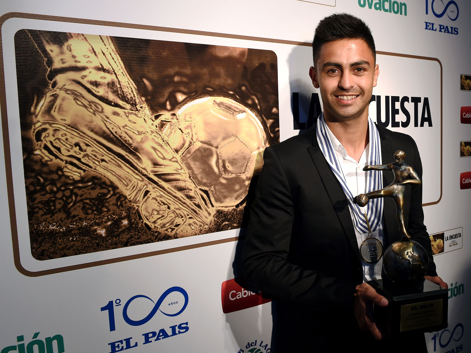 Pity Martinez is named South America's player of the year