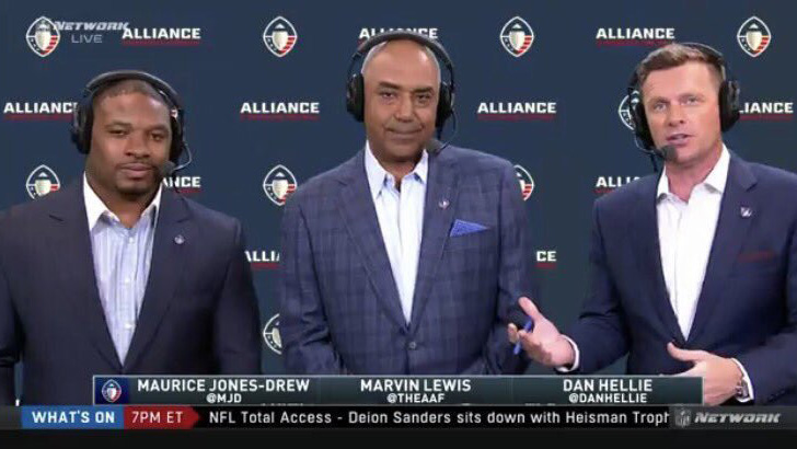 AAF: Marvin Lewis makes broadcasting debut in Hotshots vs Stallions