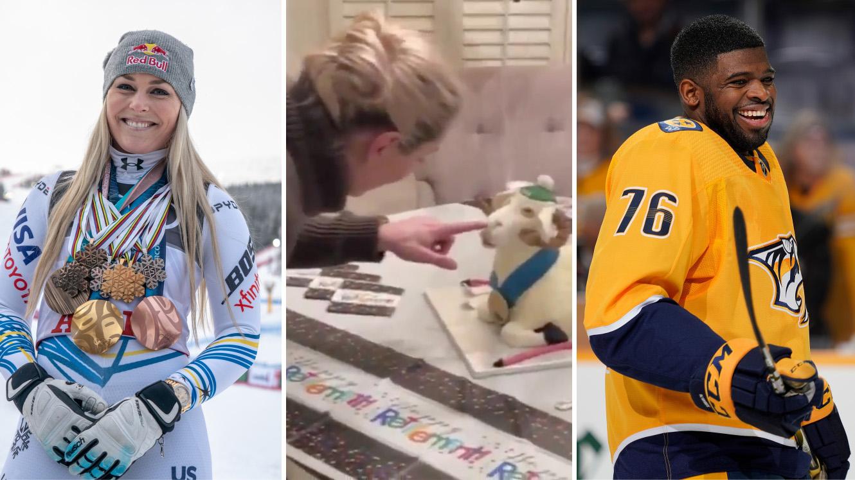Lindsey Vonn: Boyfriend PK Subban buys GOAT-themed retirement gifts