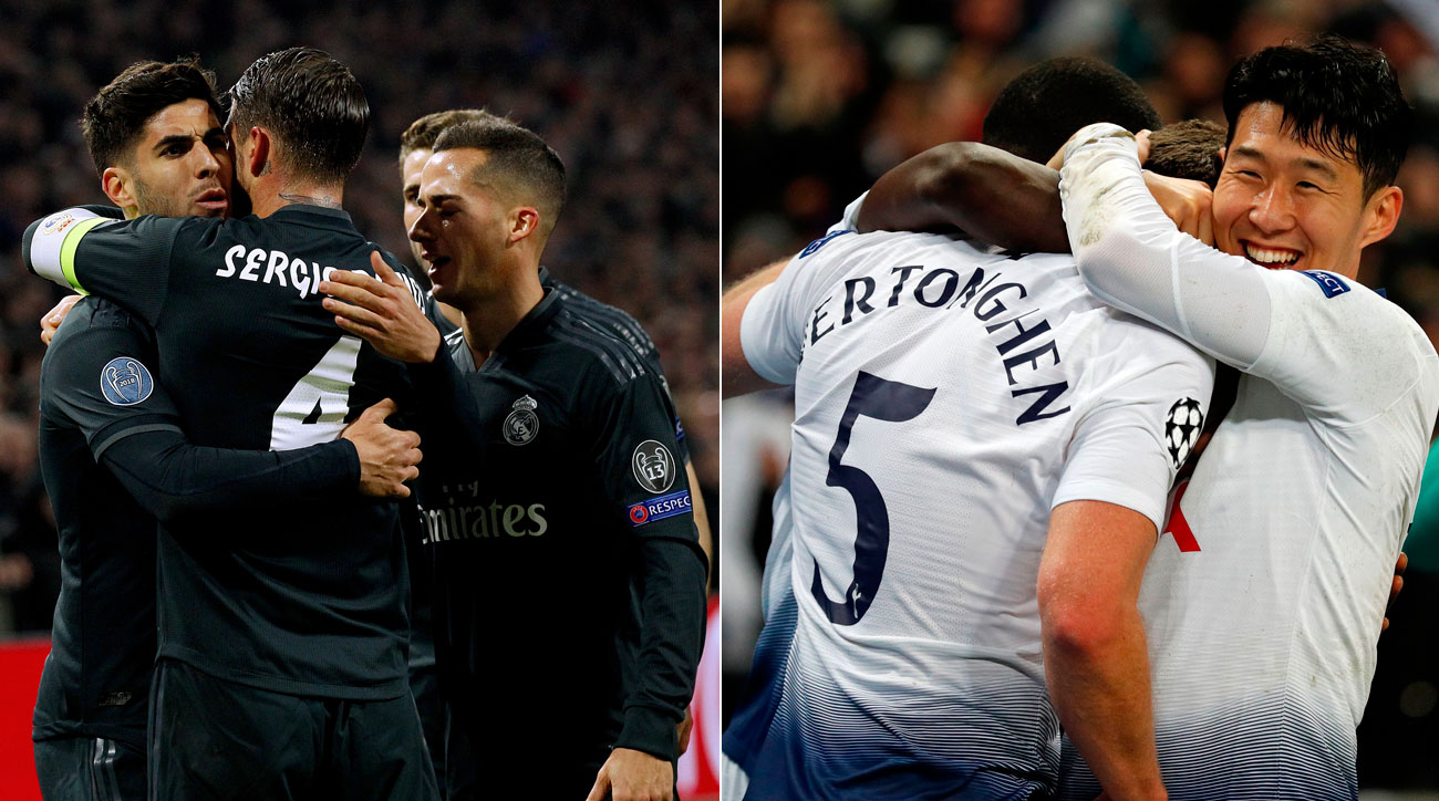 Real Madrid and Tottenham win in the first leg of the Champions League round of 16.