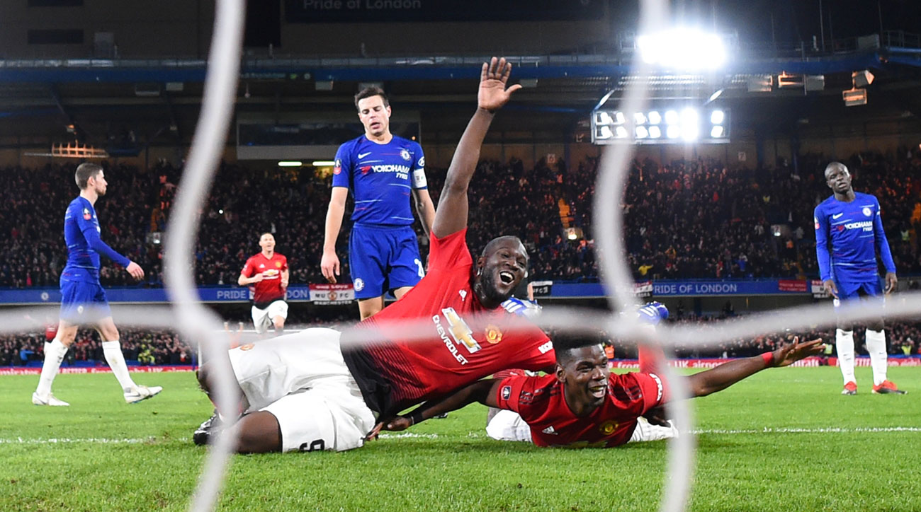 Paul Pogba scores for Man United vs. Chelsea in the FA Cup