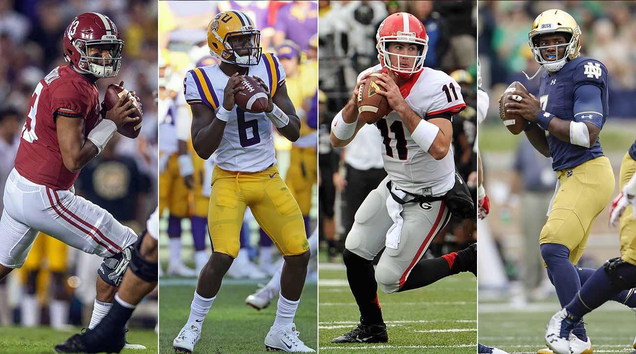 Alabama, LSU, Georgia, Notre Dame football have excelled despite quarterback turnover