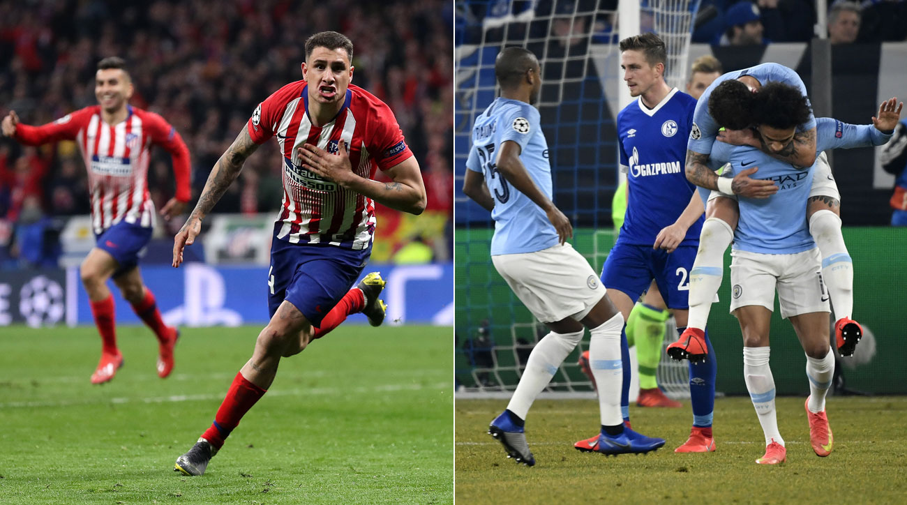 Jose Maria Gimenez and Leroy Sane score clutch goals in the Champions League