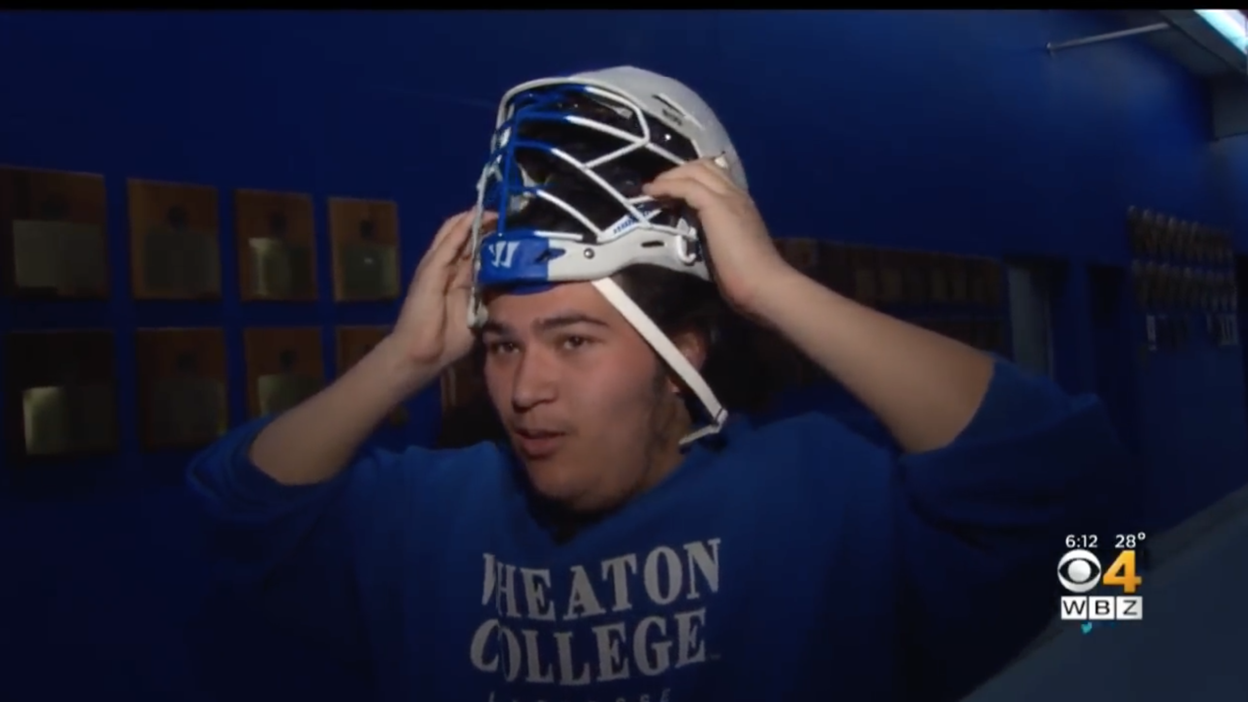 College lacrosse: Wheaton's Alex Chu needs custom helmet
