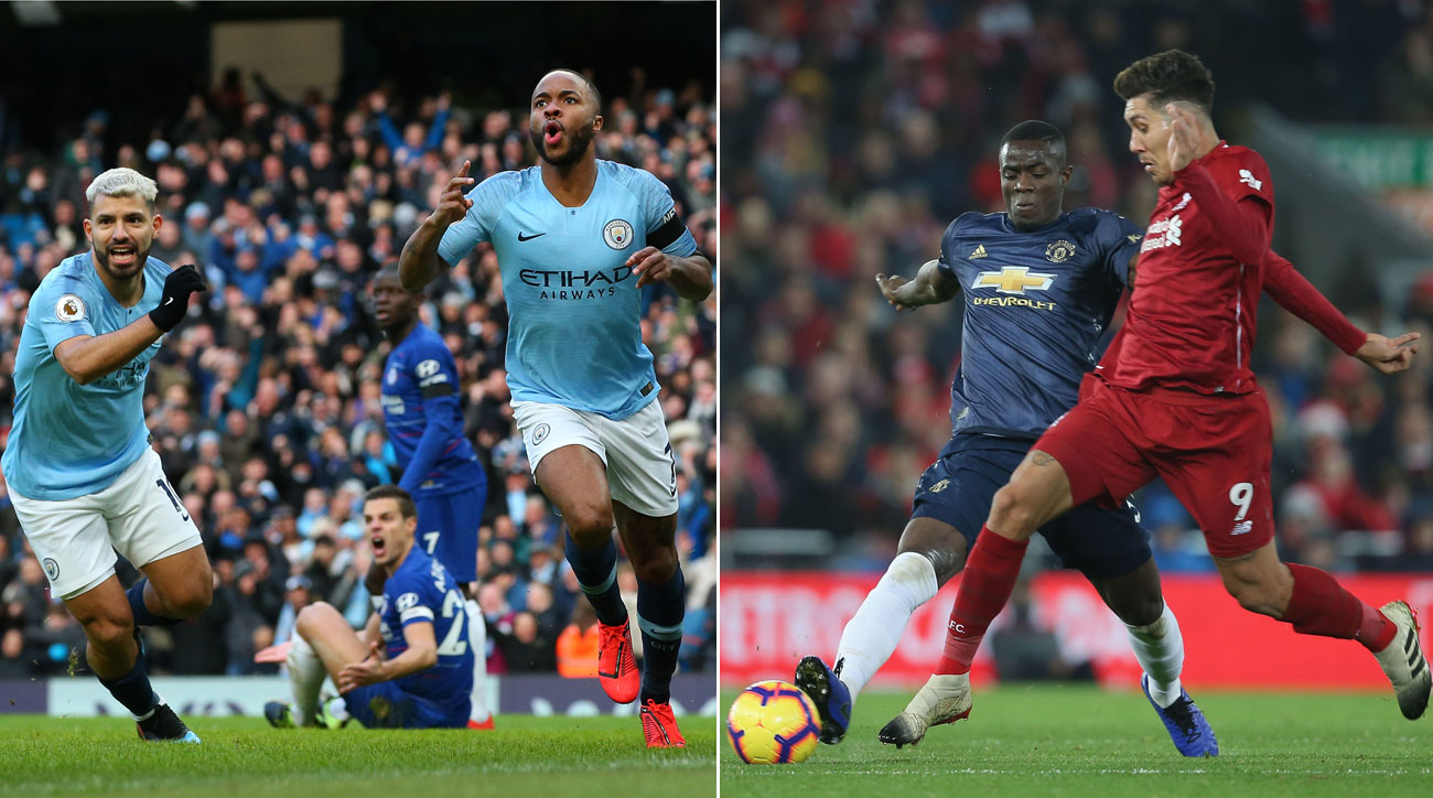 Man City faces Chelsea in the League Cup final, while Man United hosts Liverpool in the Premier League