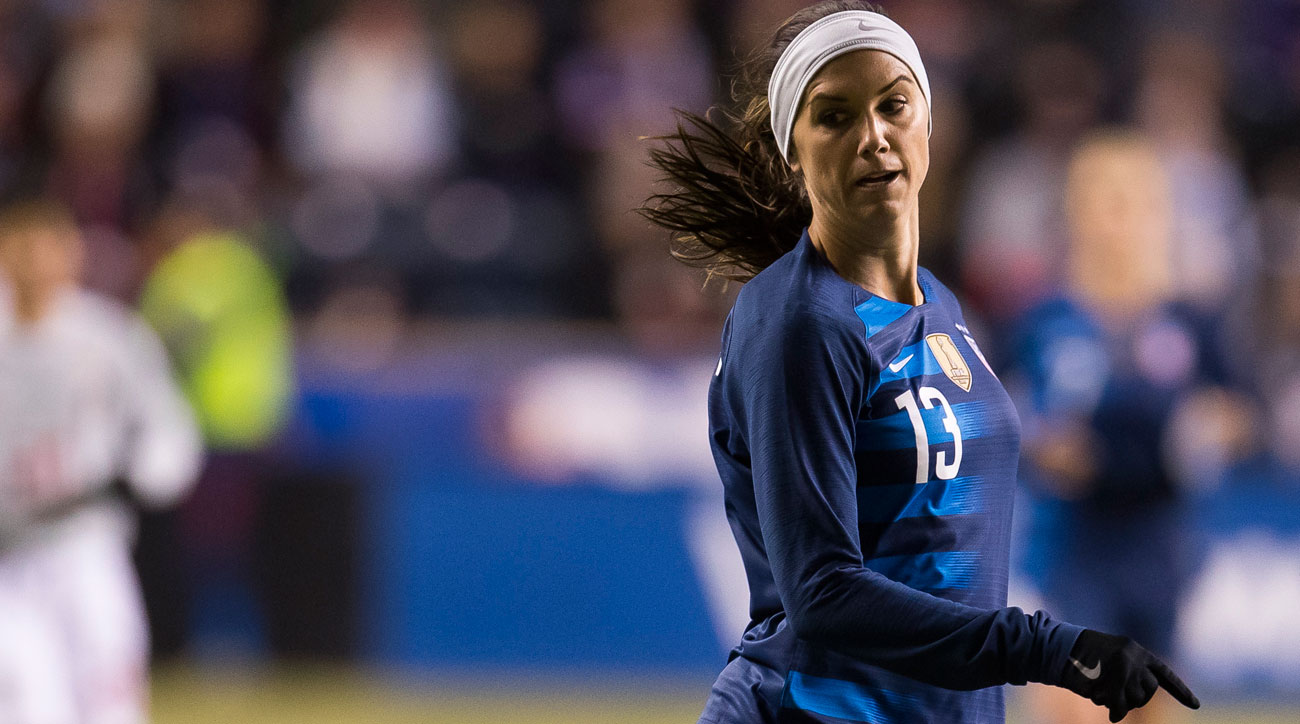 Alex Morgan scores in the SheBelieves Cup for the USWNT