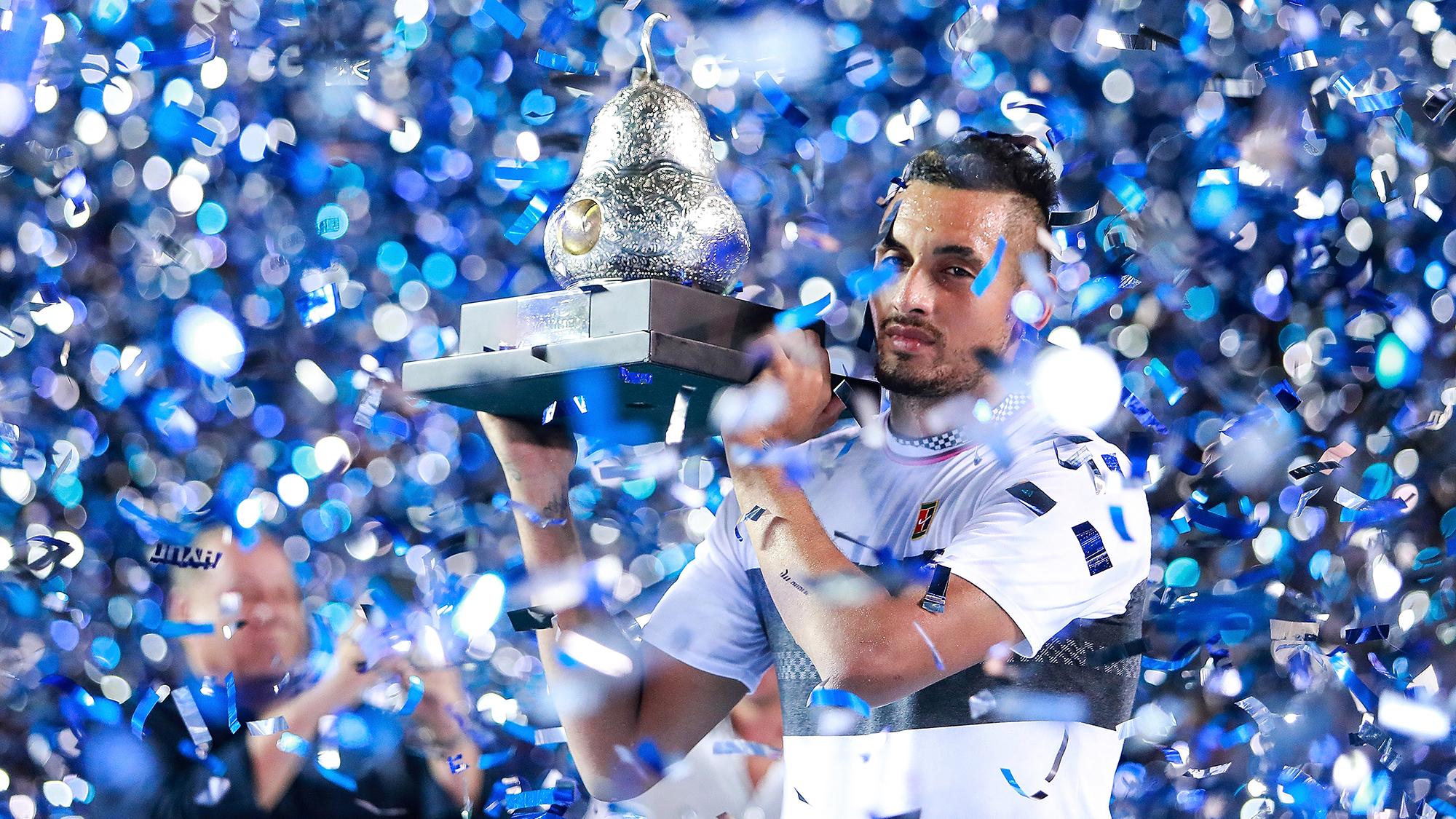 Nick Kyrigos Acapulco Mexico Open trophy champion