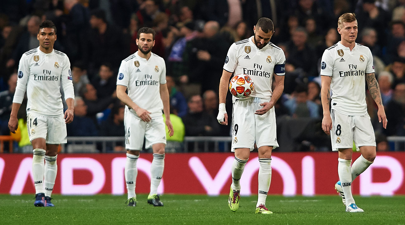 Real Madrid was ousted from the Champions League in the round of 16