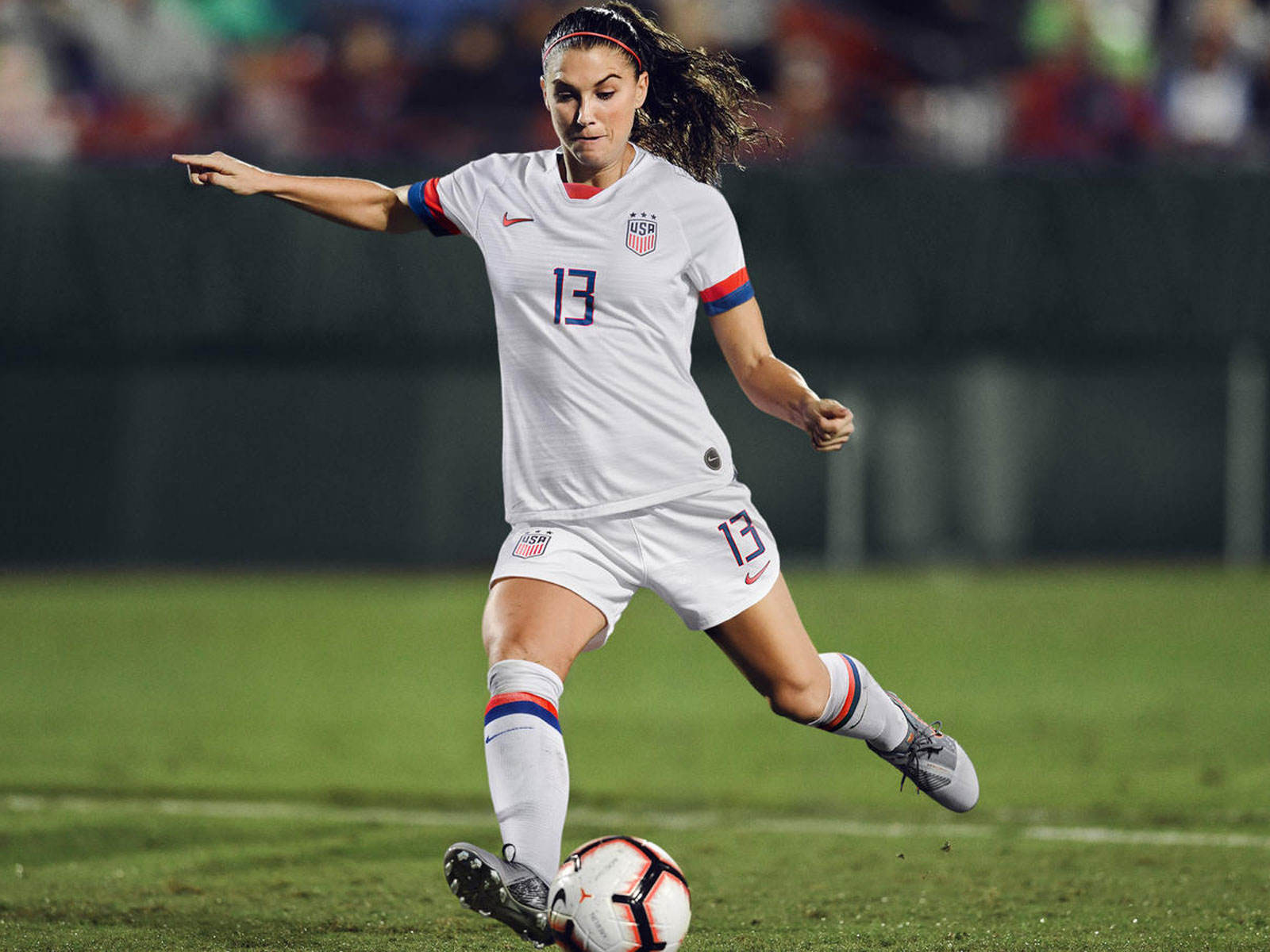 Alex Morgan dons the USWNT's 2019 Women's World Cup kit