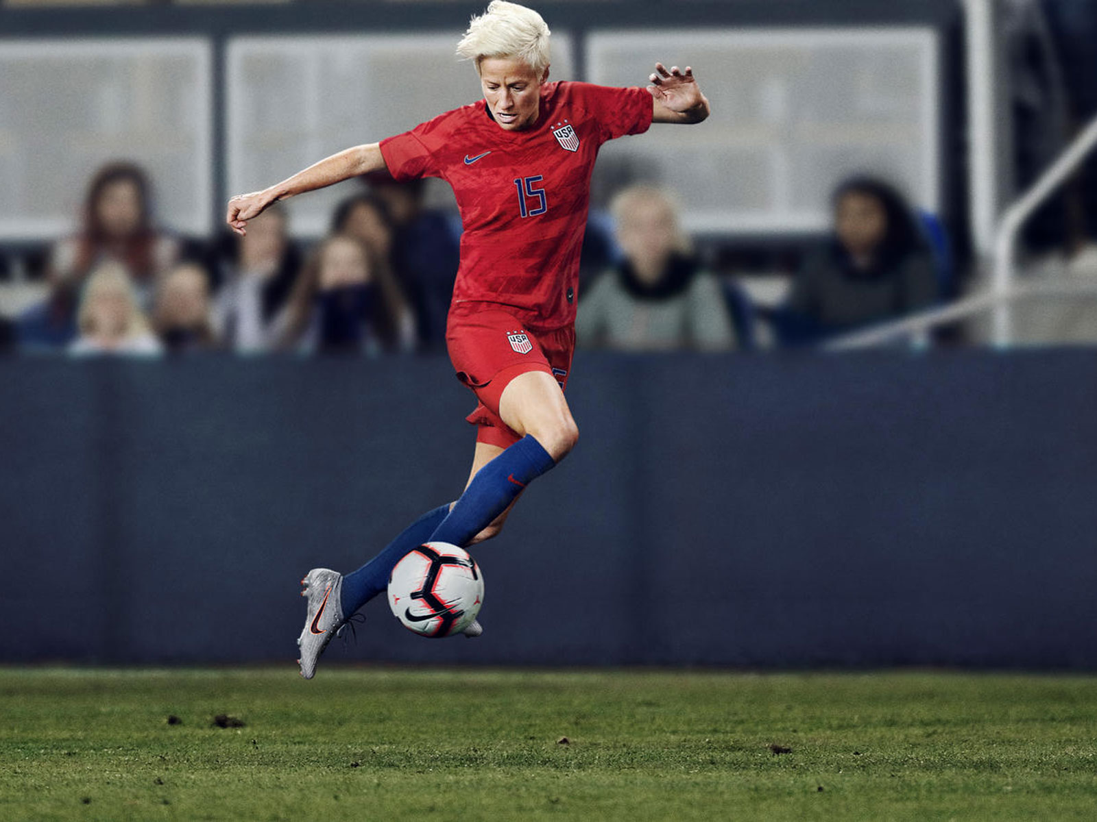 Megan Rapinoe dons the USWNT's 2019 Women's World Cup kit
