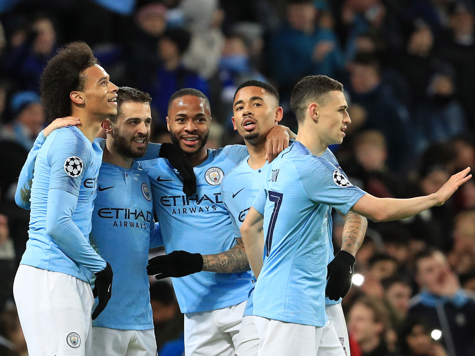 Man City thrashes Schalke to advance in Champions League