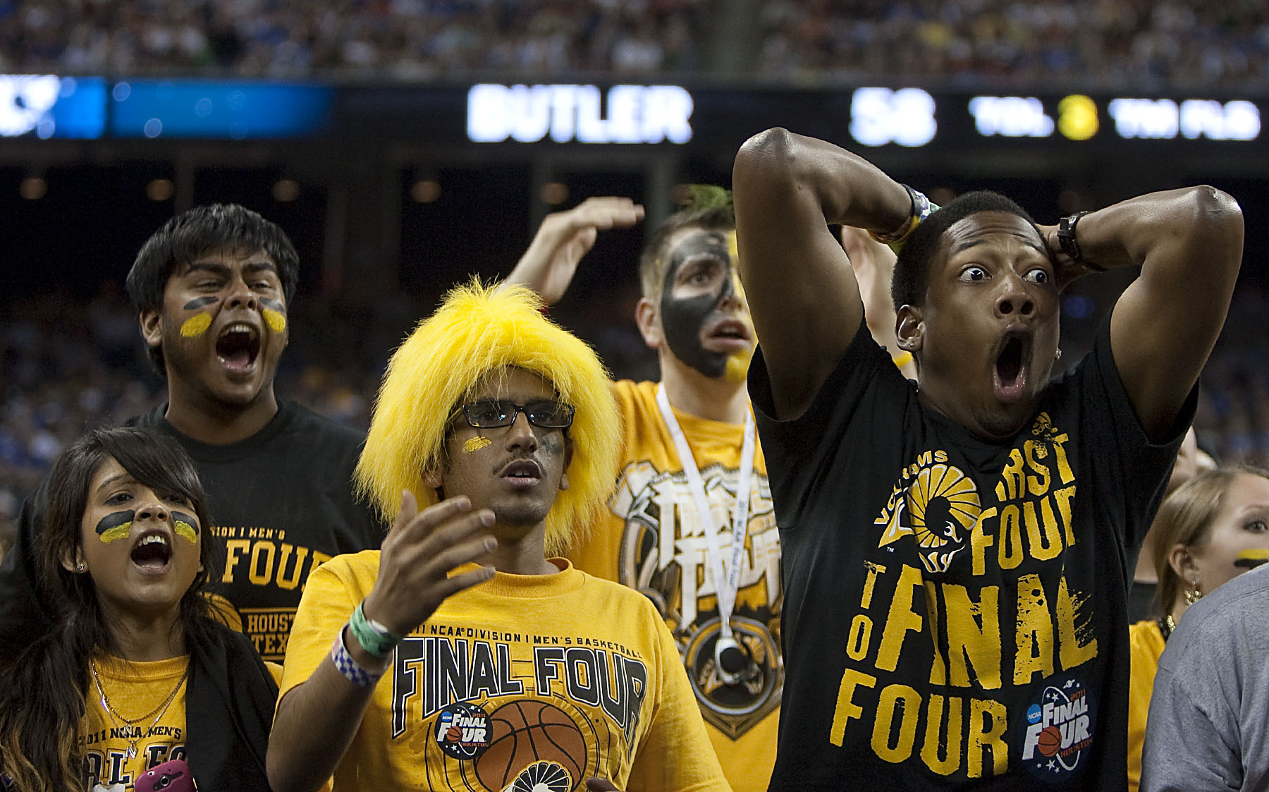VCU basketball fans react at 2011 NCAA Tournament Final Four