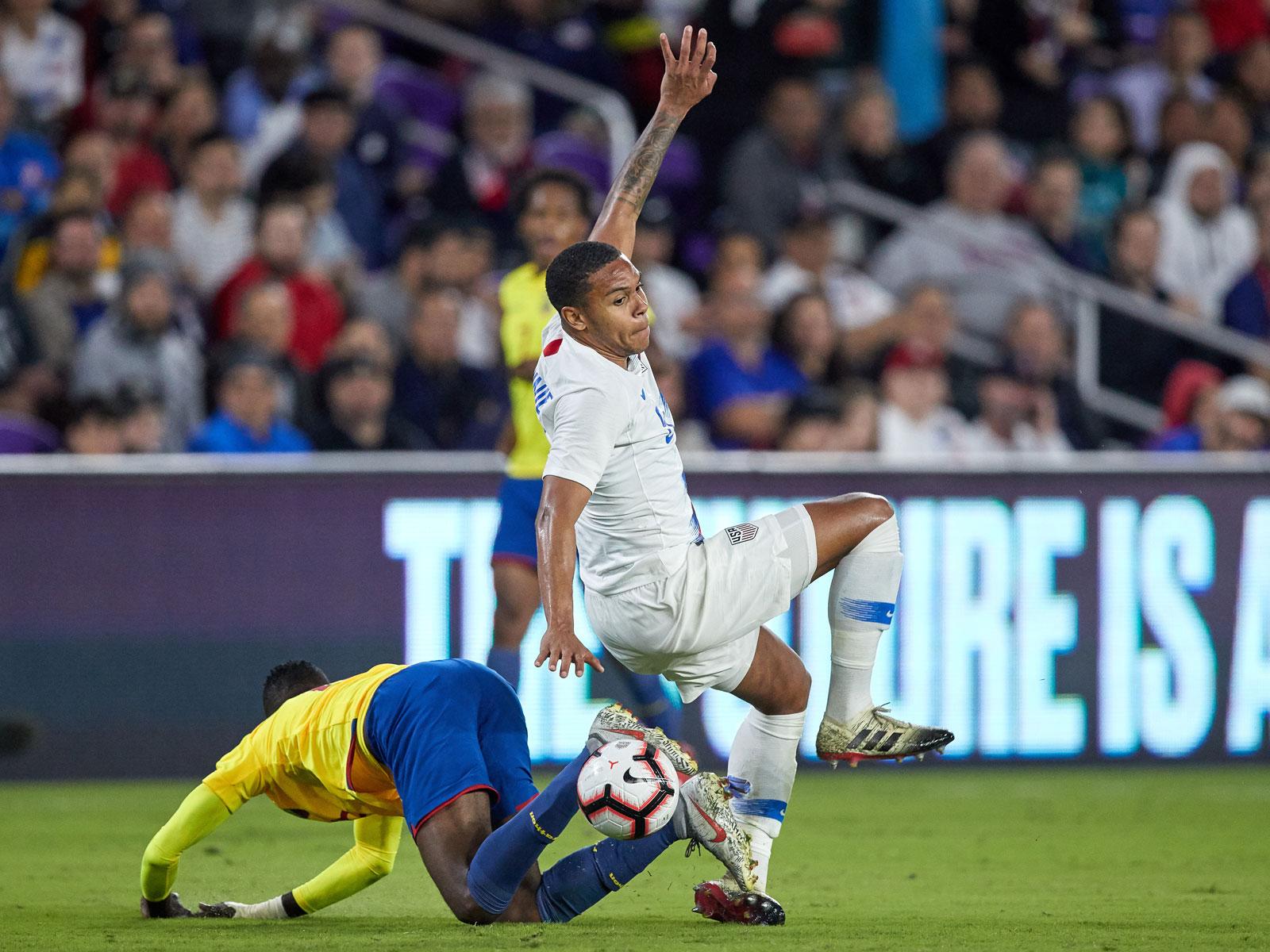 Weston McKennie was injured in the USA's win over Ecuador
