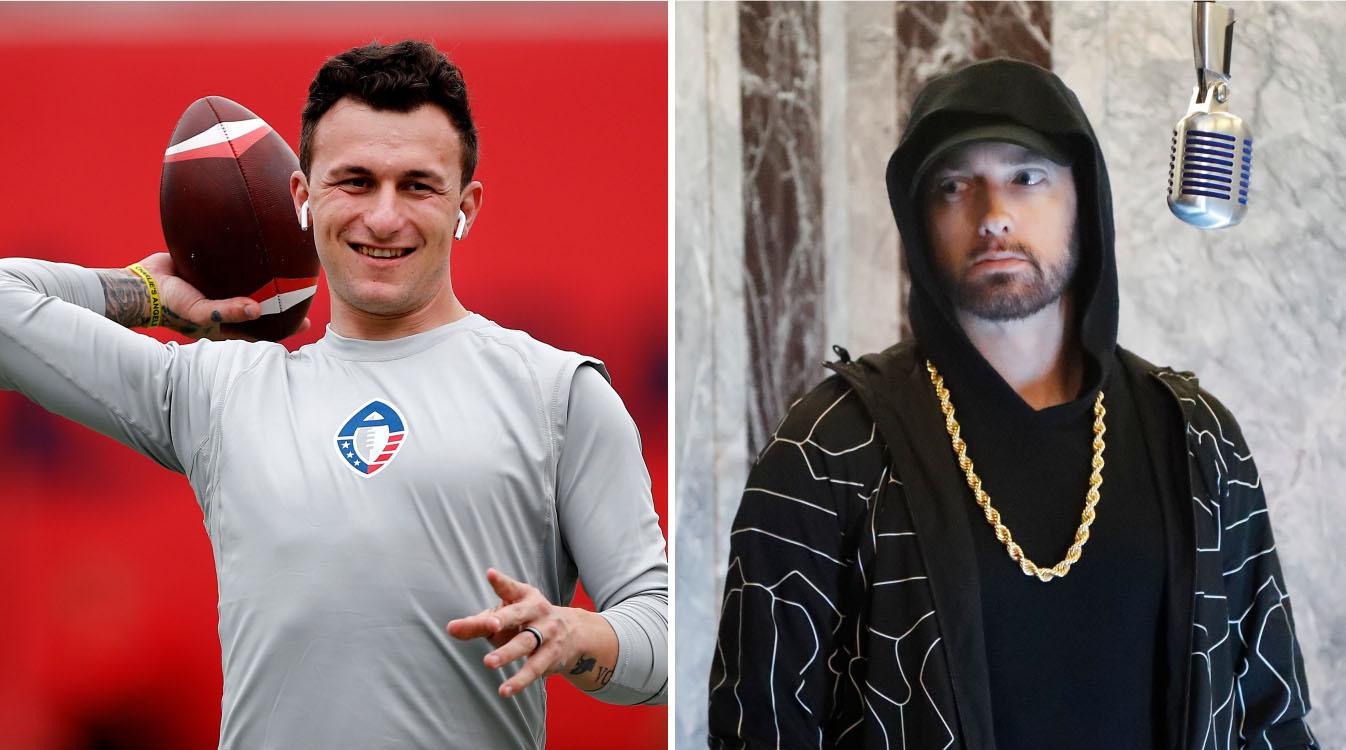 Eminem and Johnny Manziel on AAF fighting