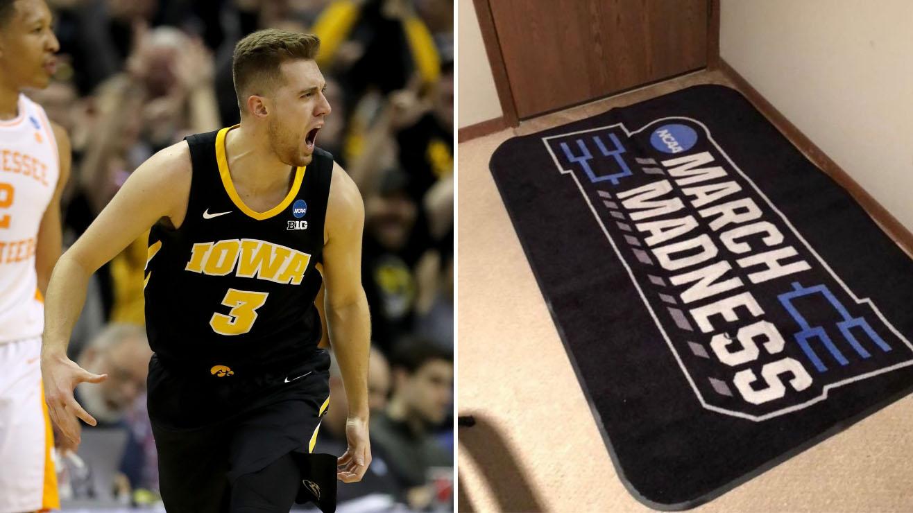 Jordan Bohannon: Iowa star steals March Madness rug
