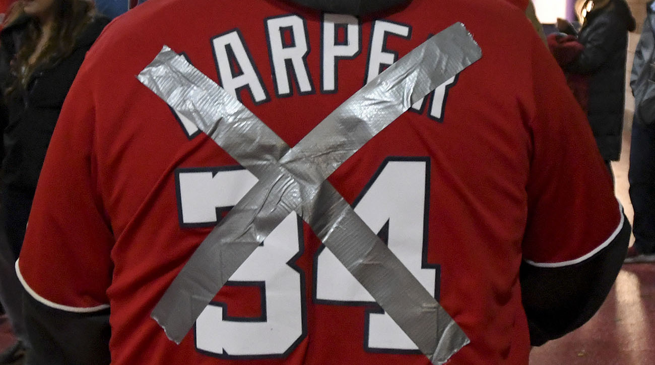 Bryce Harper defaced jerseys