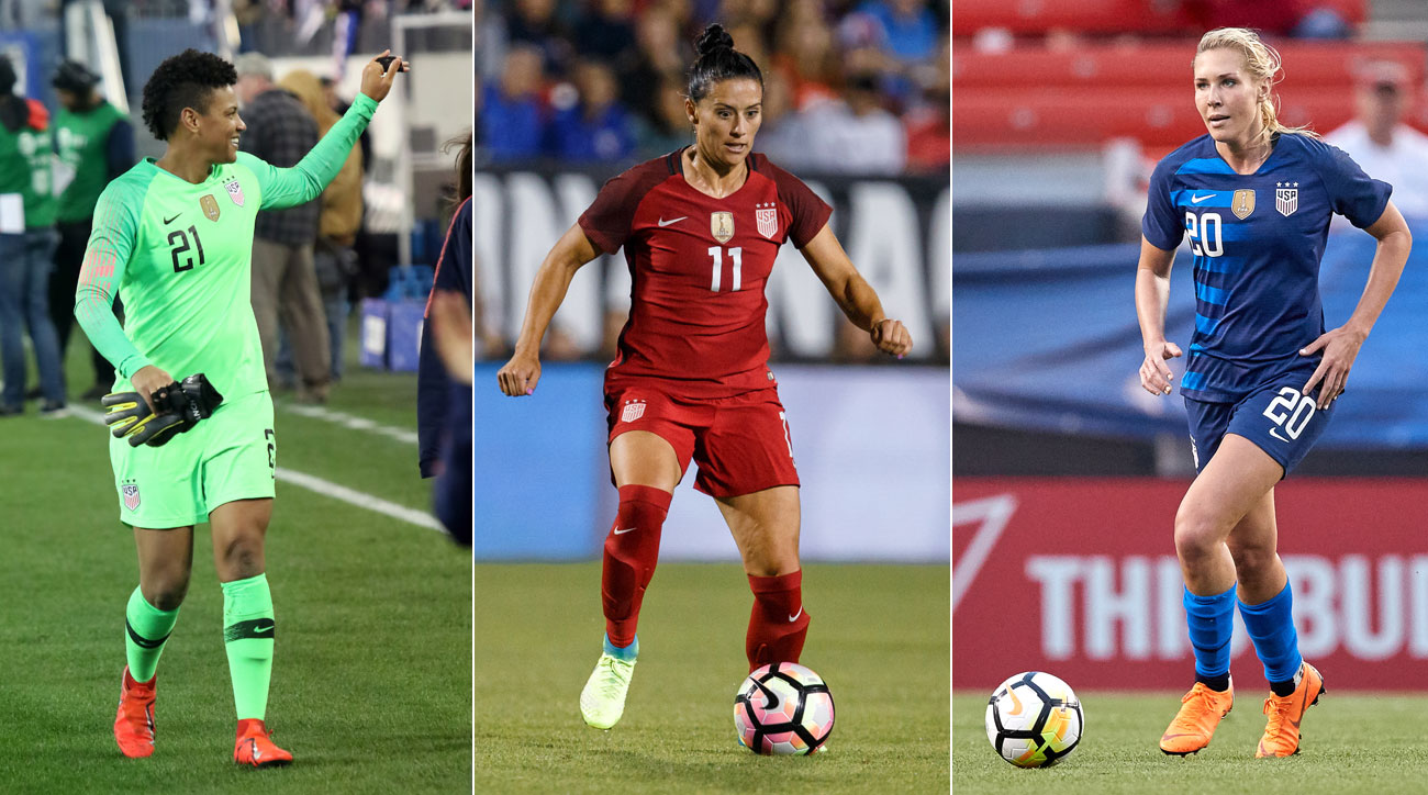 Adrianna Franch, Ali Krieger and Allie Long are hoping to make the USWNT's World Cup team