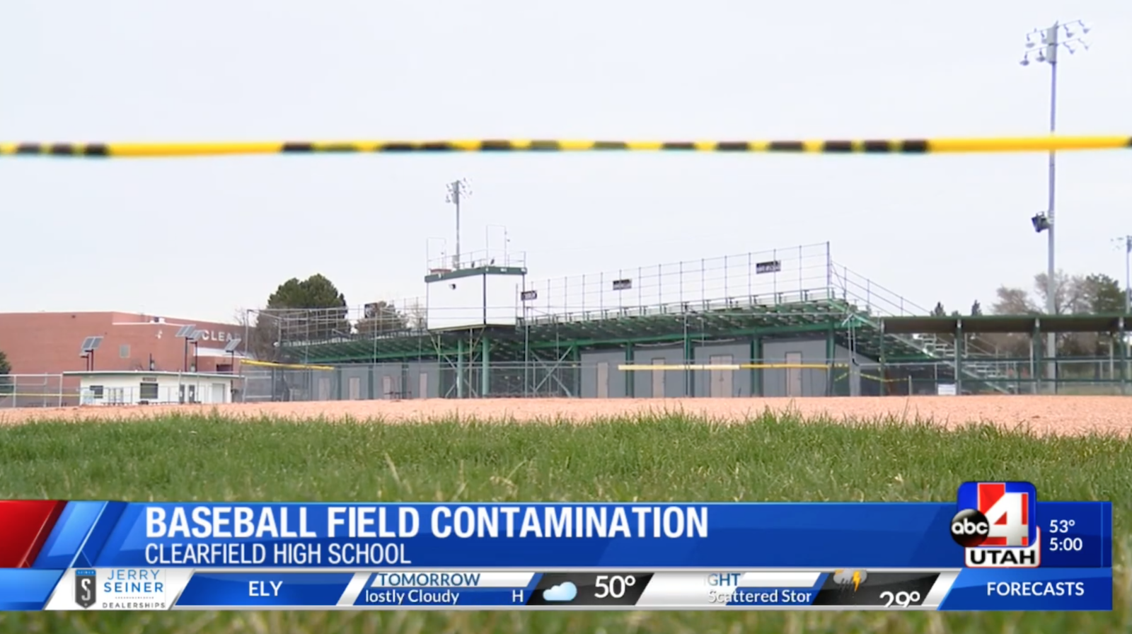 Utah baseball coach soaks field with gasoline (video)