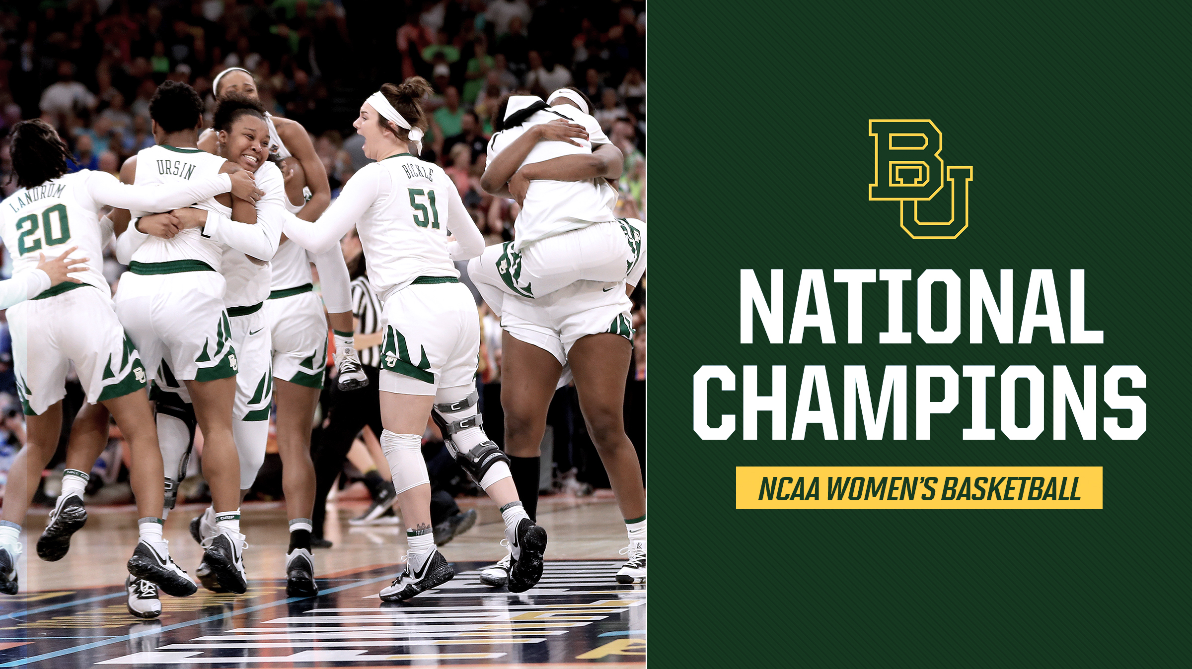 Baylor beats Notre Dame for national championship: Kim Mulkey, Lauren Cox, Chloe Jackson celebrate
