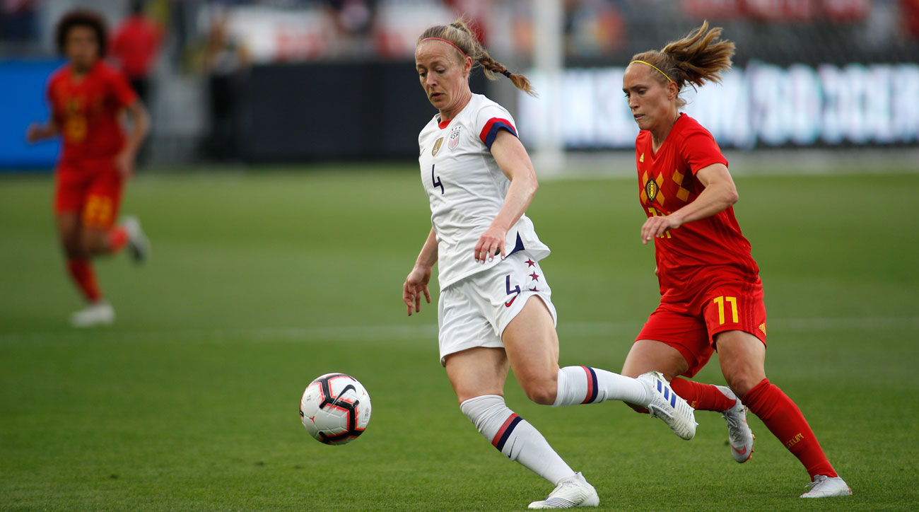 Becky Sauerbrunn and the USWNT shut out Belgium after conceding 10 goals in its previous six games
