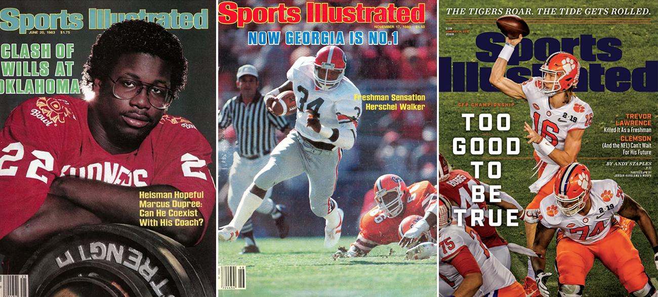 SI Covers: Marcus Dupree, Herschel Walker, Trevor Lawrence