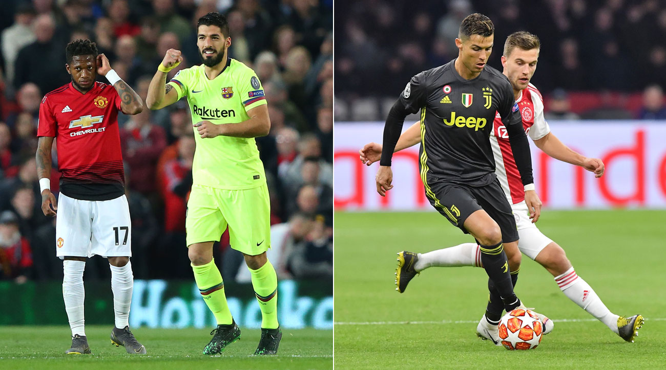 Barcelona beats Man United, Juventus draws Ajax in the Champions League quarterfinals