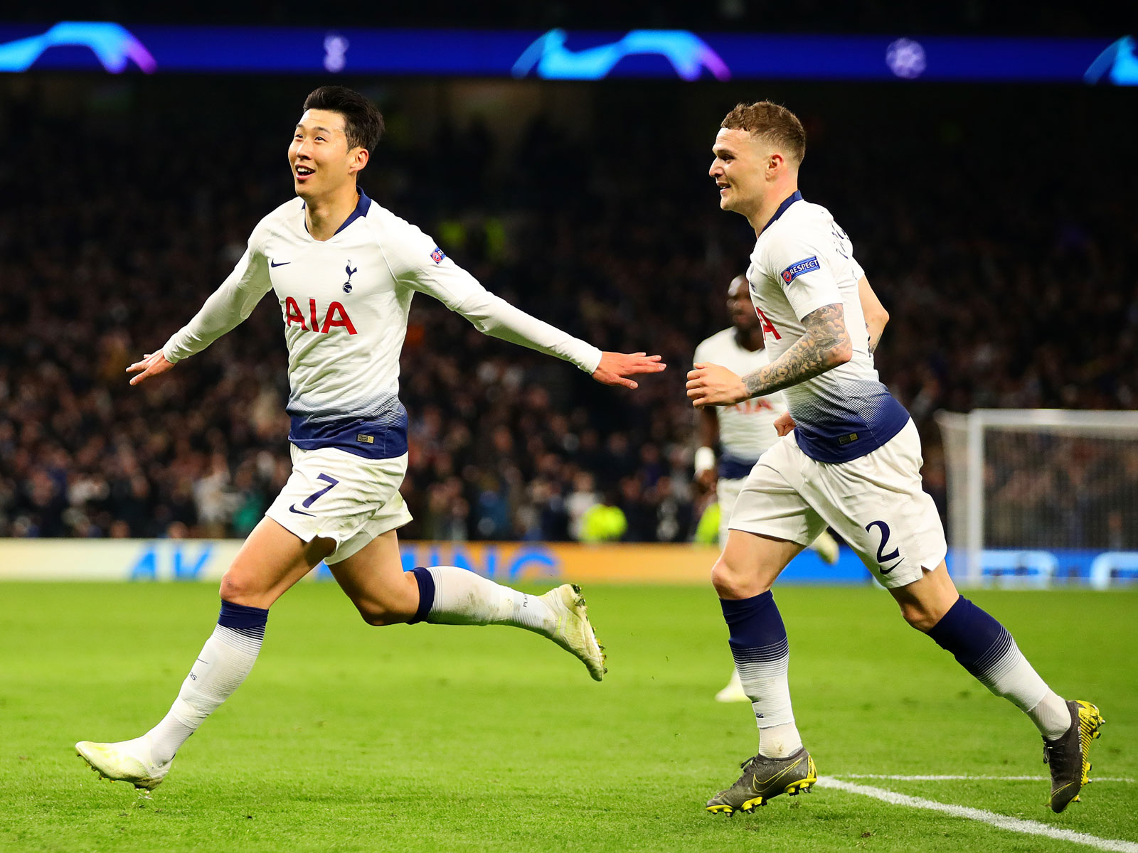 Son Heung-min scores for Tottenham vs. Manchester City in Champions League