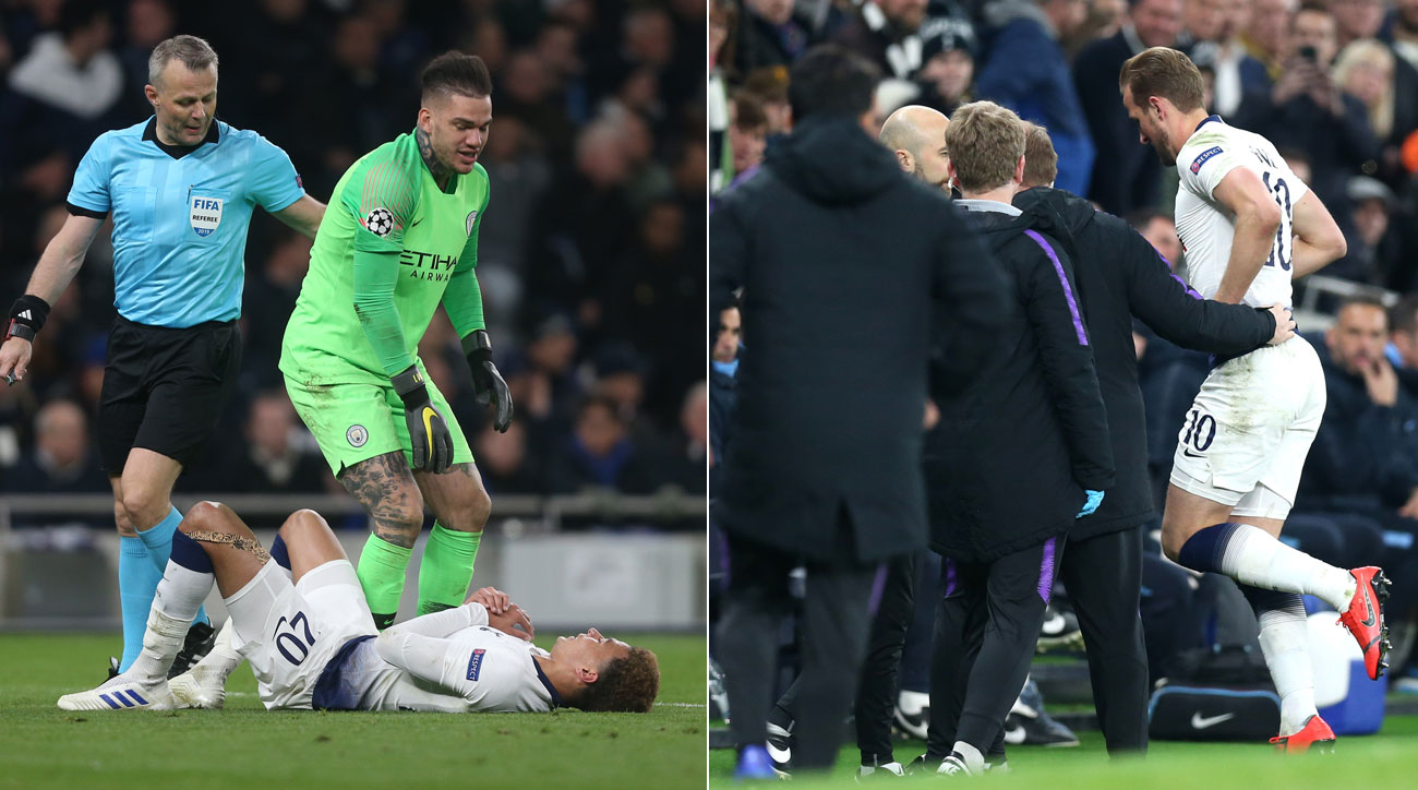 Dele Alli and Harry Kane were injured in Tottenham's win over Man City