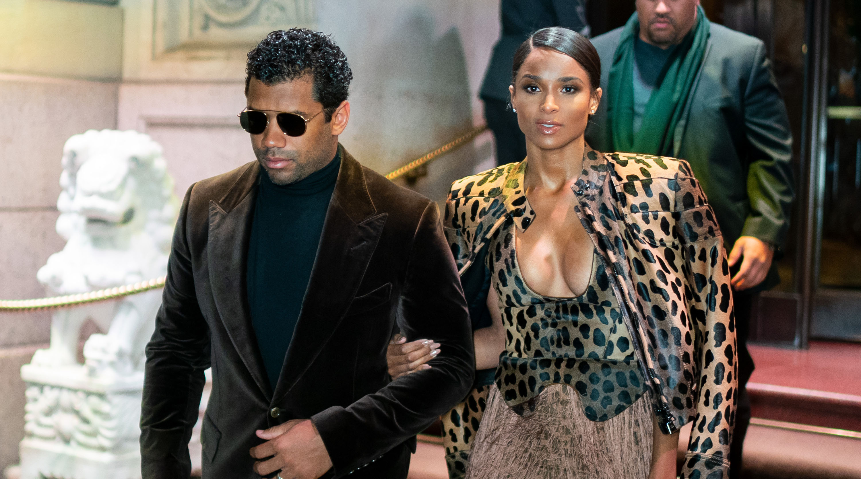 Russell Wilson announces contract in bed with Ciara
