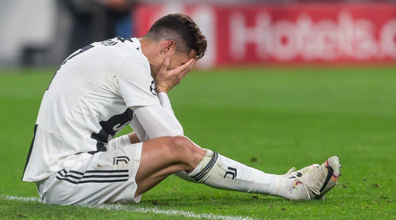 Cristiano Ronaldo and Juventus are out of the Champions League