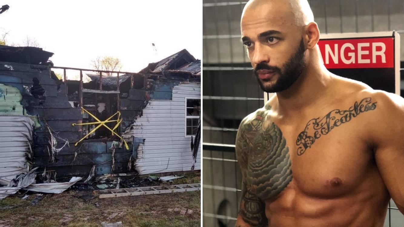 WWE wrestler Ricochet's mother's house burns down