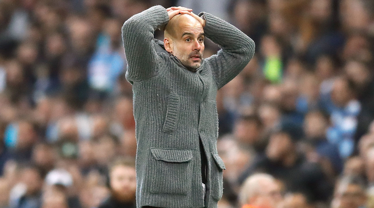 Pep Guardiola and Manchester City are out of the Champions League