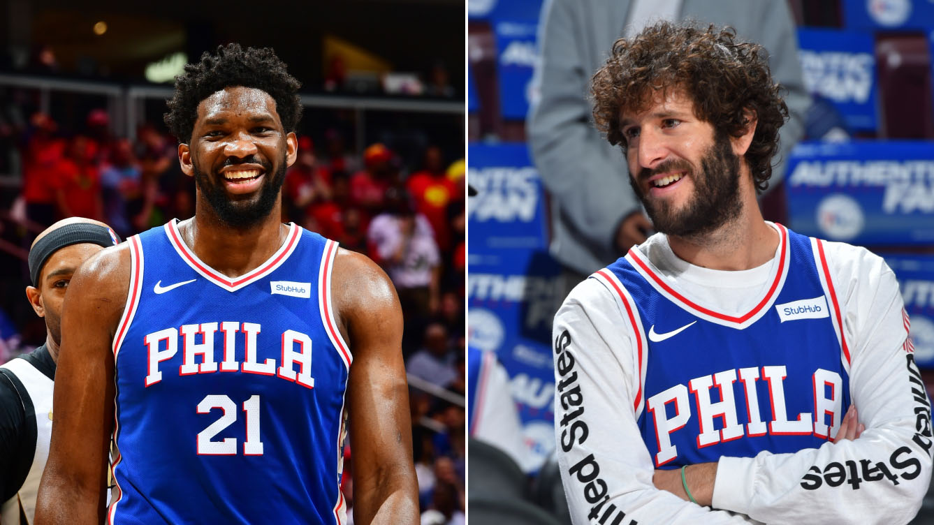 "Joel Embiid's cameo on Lil Dicky song ""Earth"" (video)"