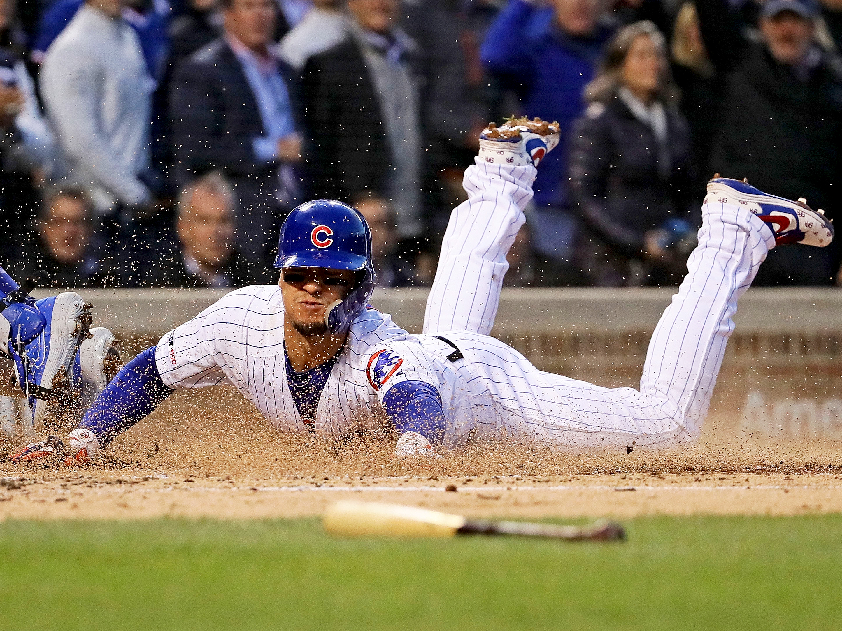 timeless design 508fb 03663 Javier Baez jukes first baseman for hit in Cubs-Dodgers game ...
