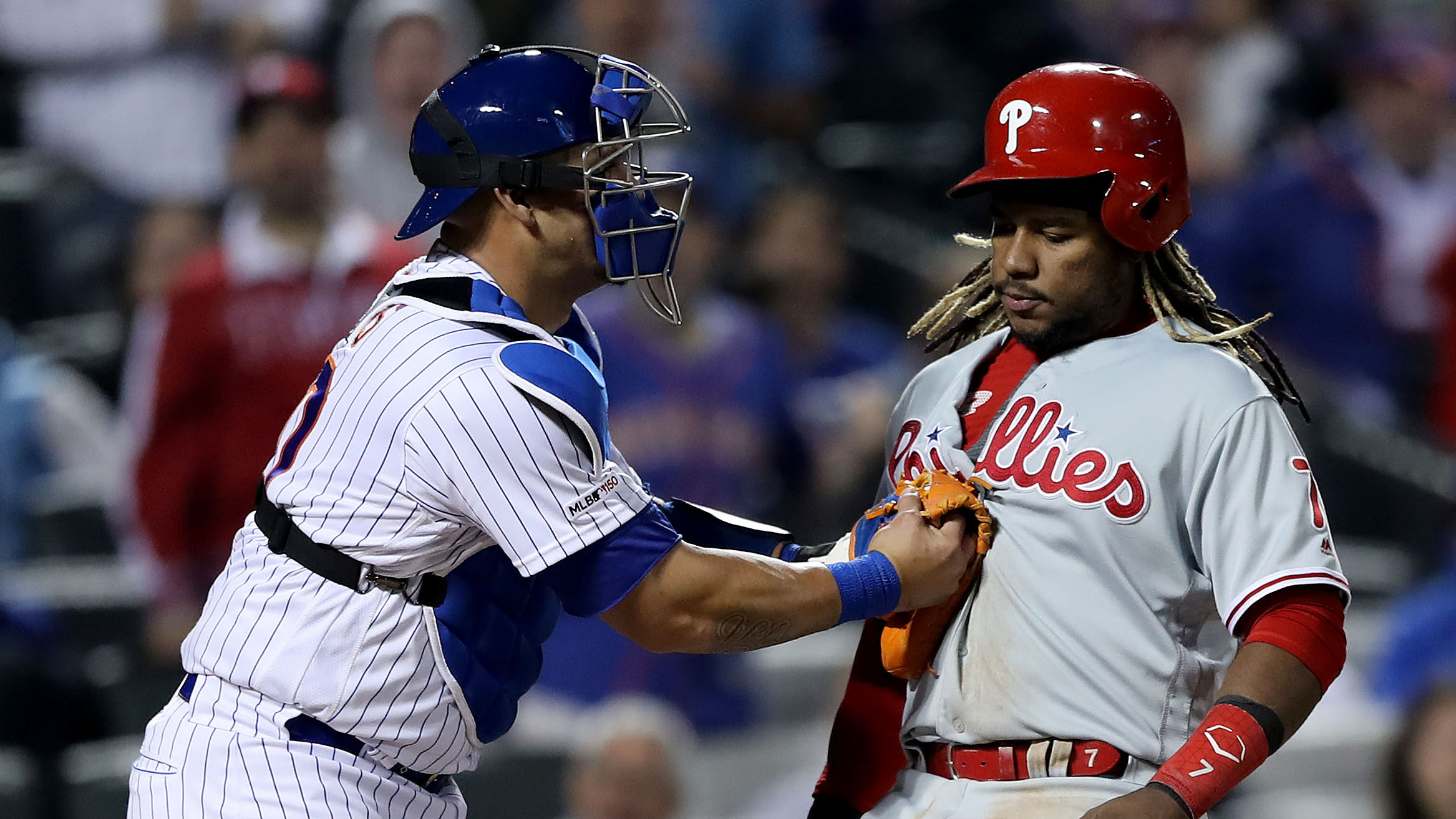Phillies' Maikel Franco thrown out at home vs. Mets (video)