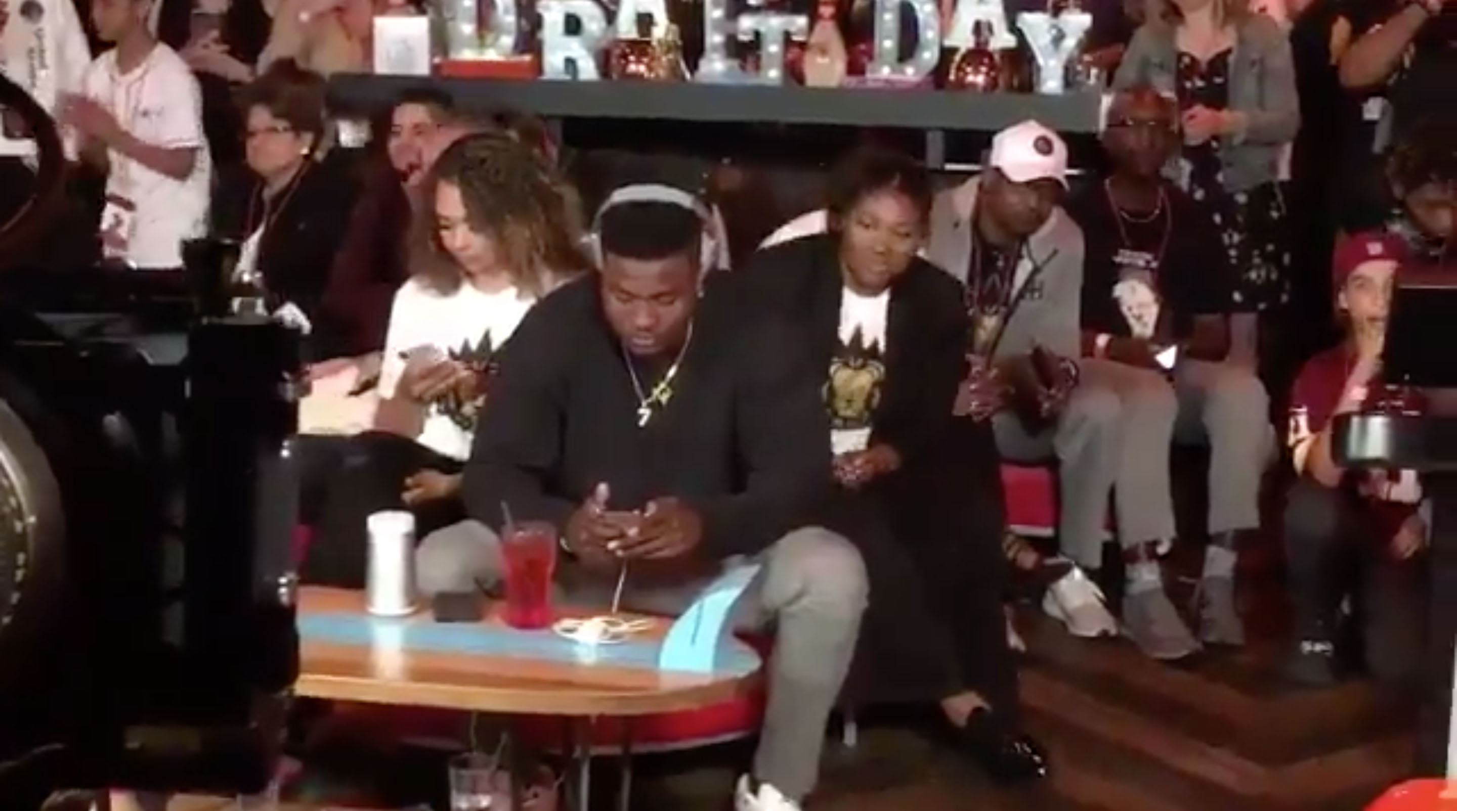 Dwayne Haskins reaction to Giants pick