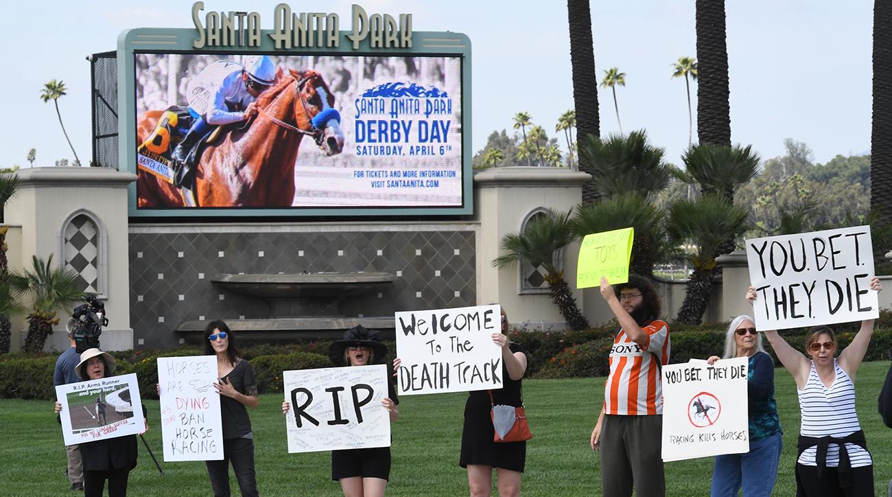 Santa Anita racetrack protestors