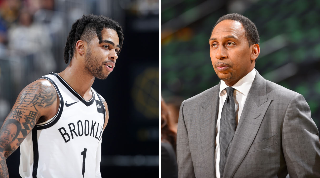 Stephen A. Smith talking about D'Angelo Russell
